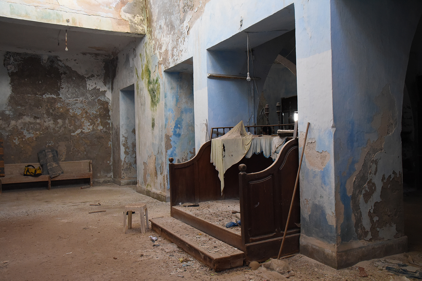 Mahdia synagogue bemah. Mahdia, Tunisia