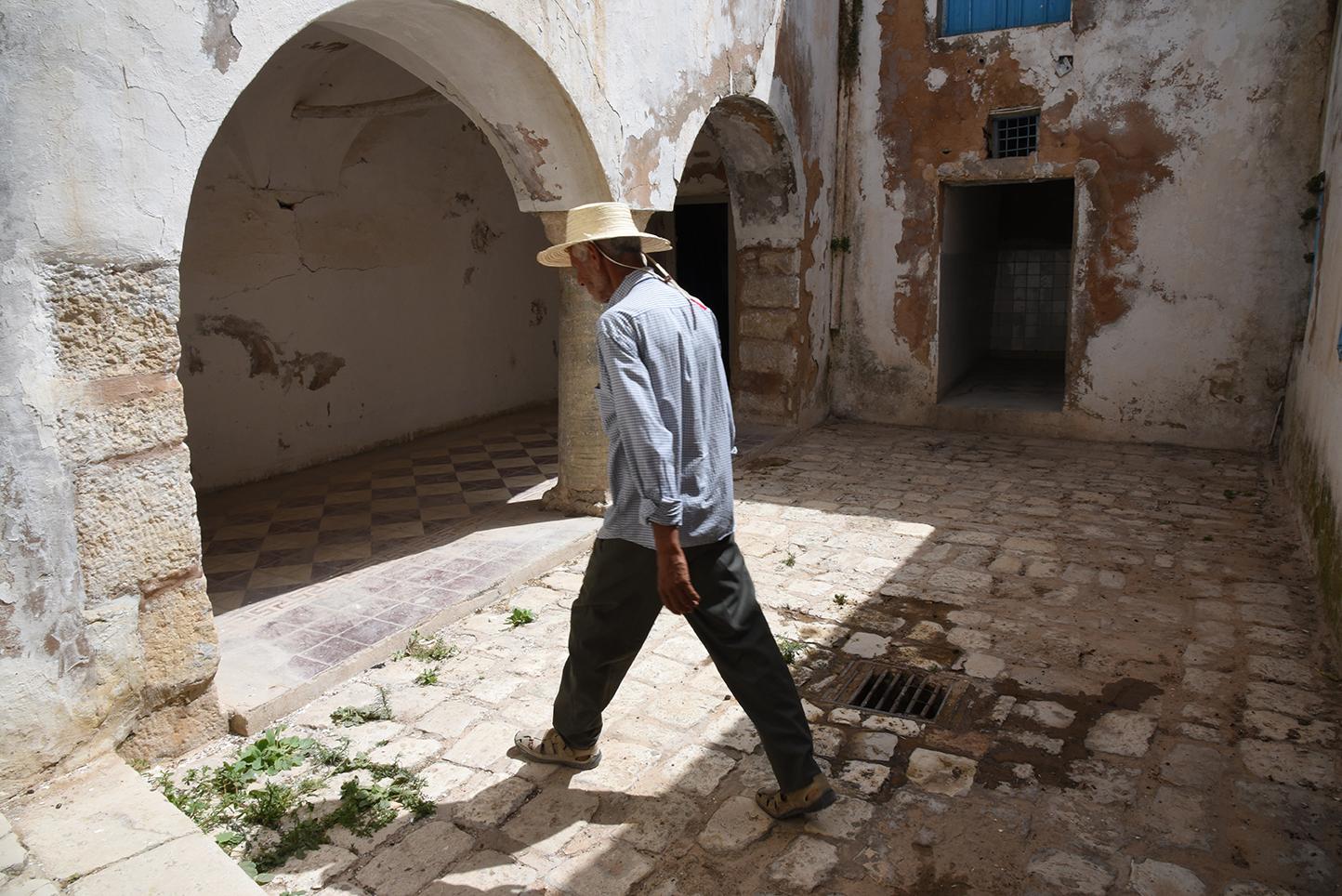 el Ghriba synagogue courtyard. Le Kef, Tunisia