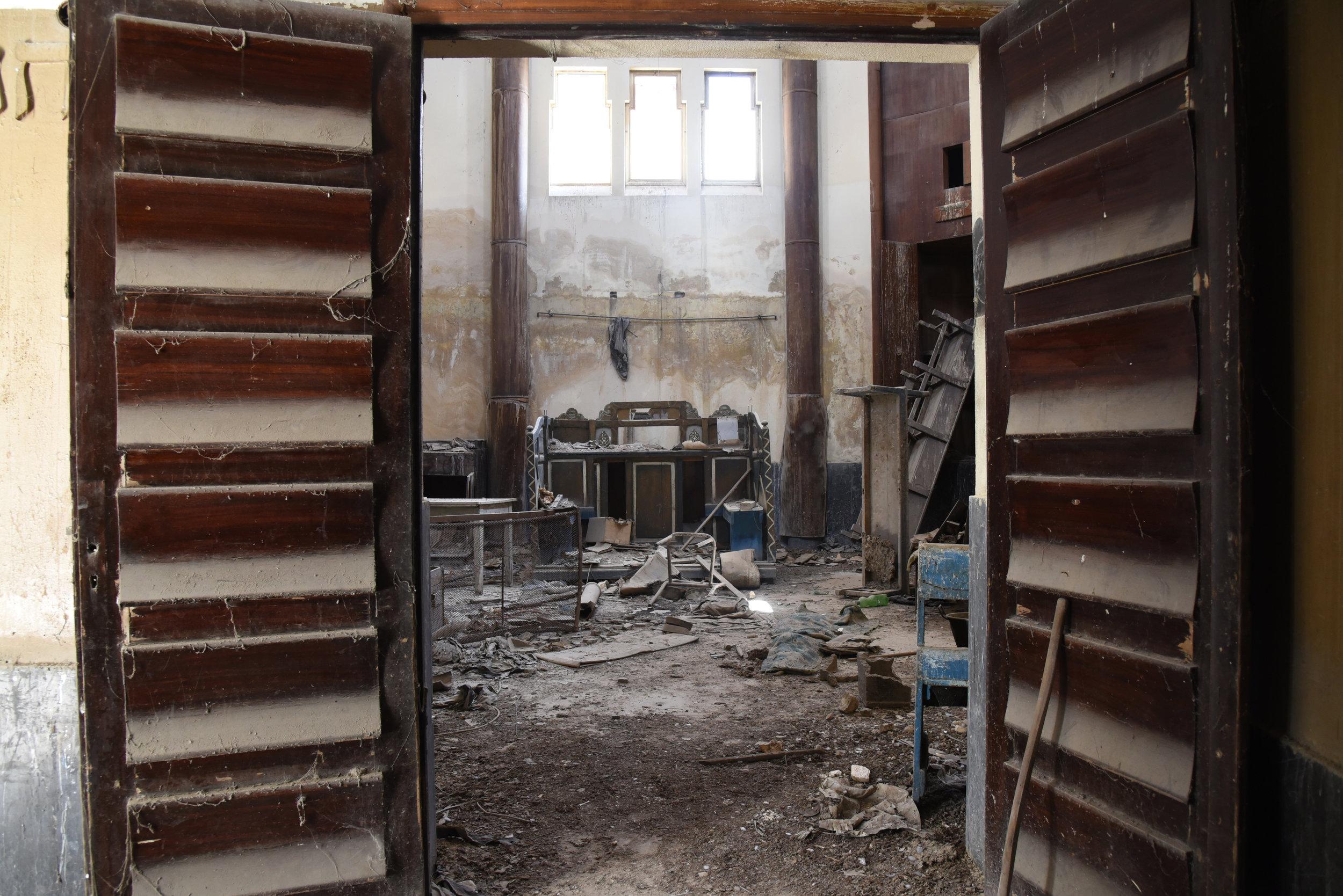 Hafsia synagogue interior. Tunis, Tunisia