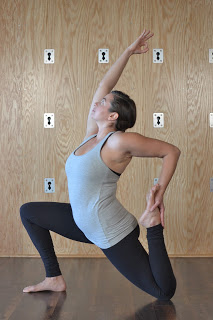 vigorous virasana in anjenayasana