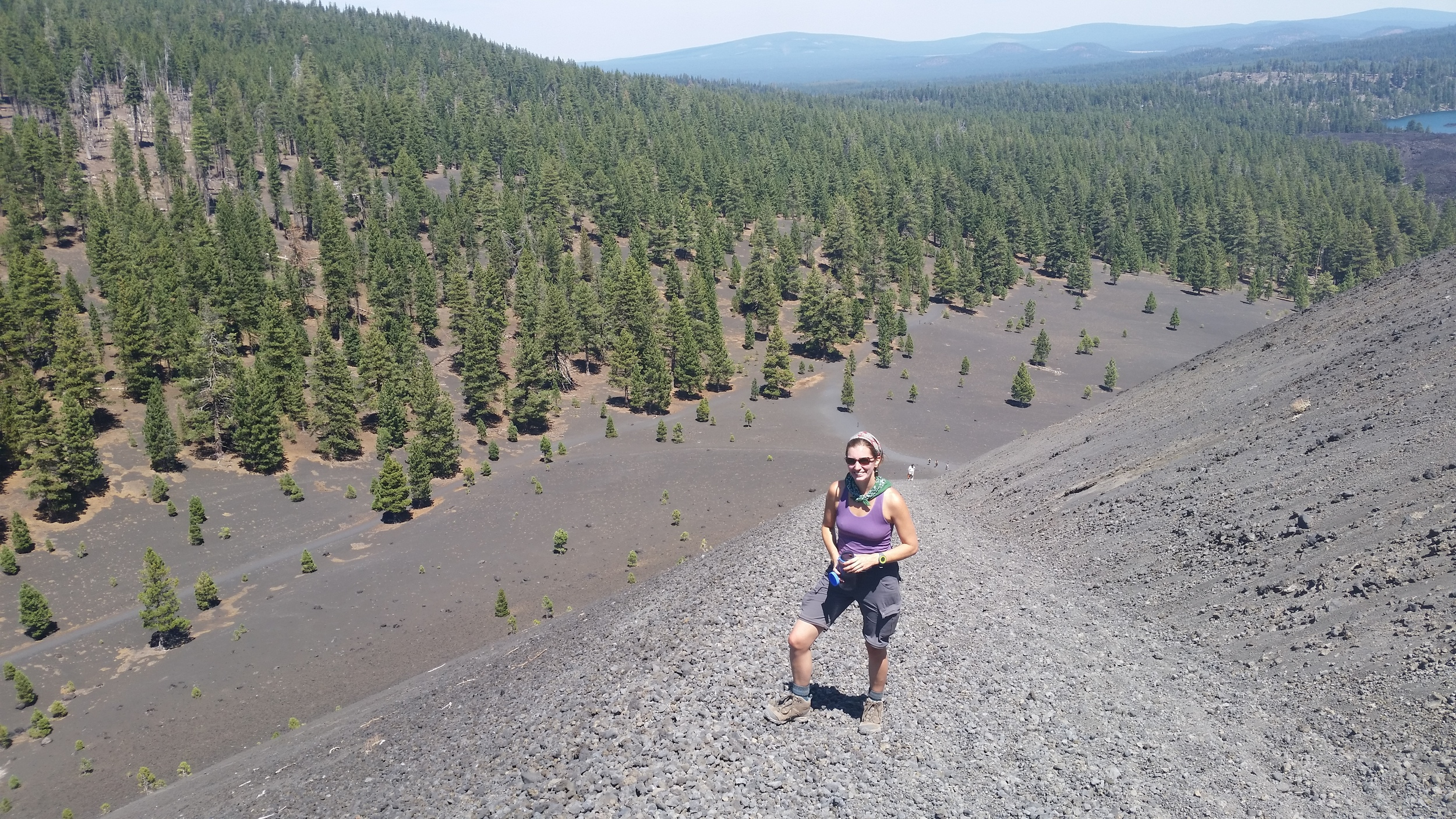 Alli hiking to the top of Cinder Cone.