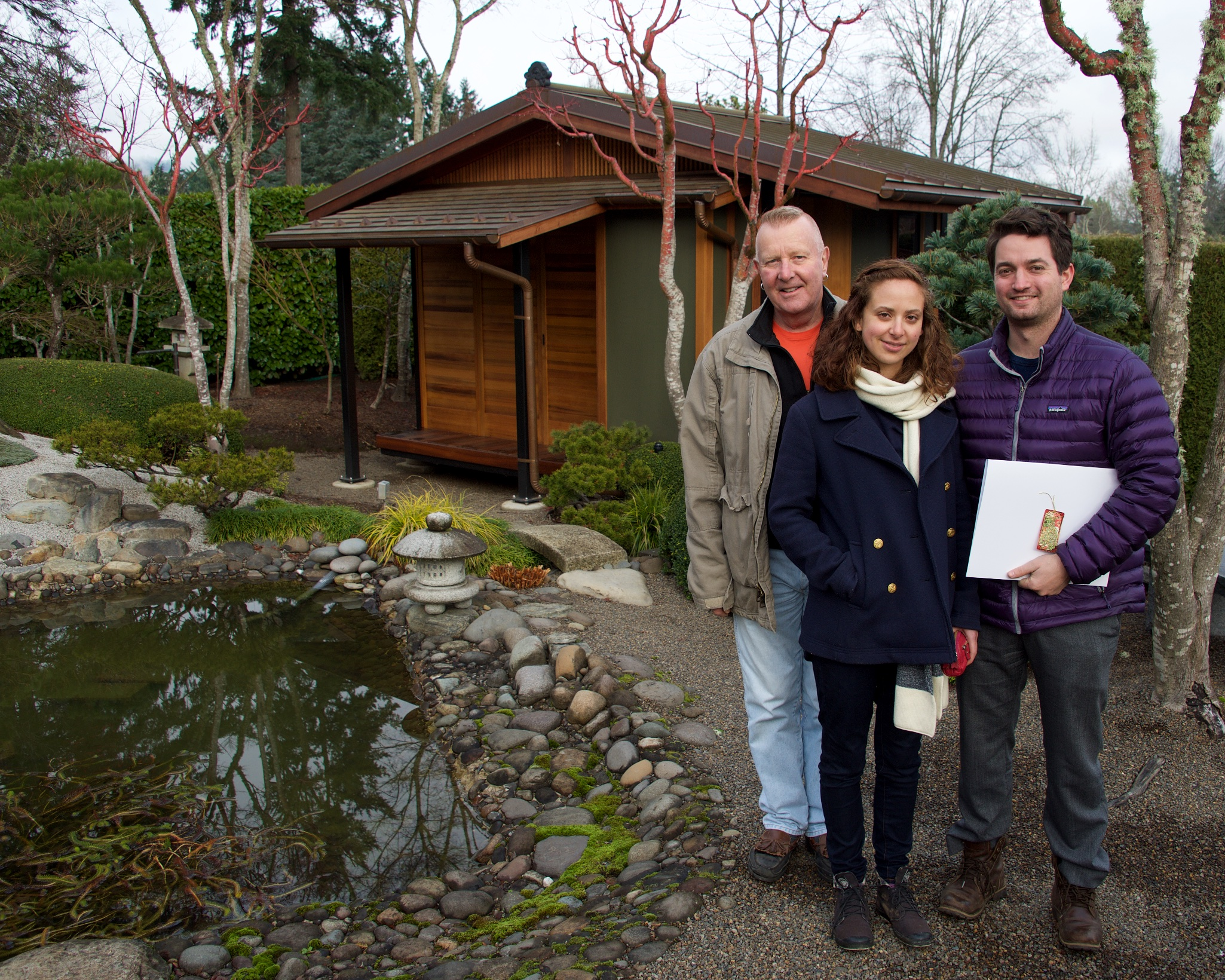 Bill Cook, Hannah Smith-Drelich, and Martin House, December 2015.