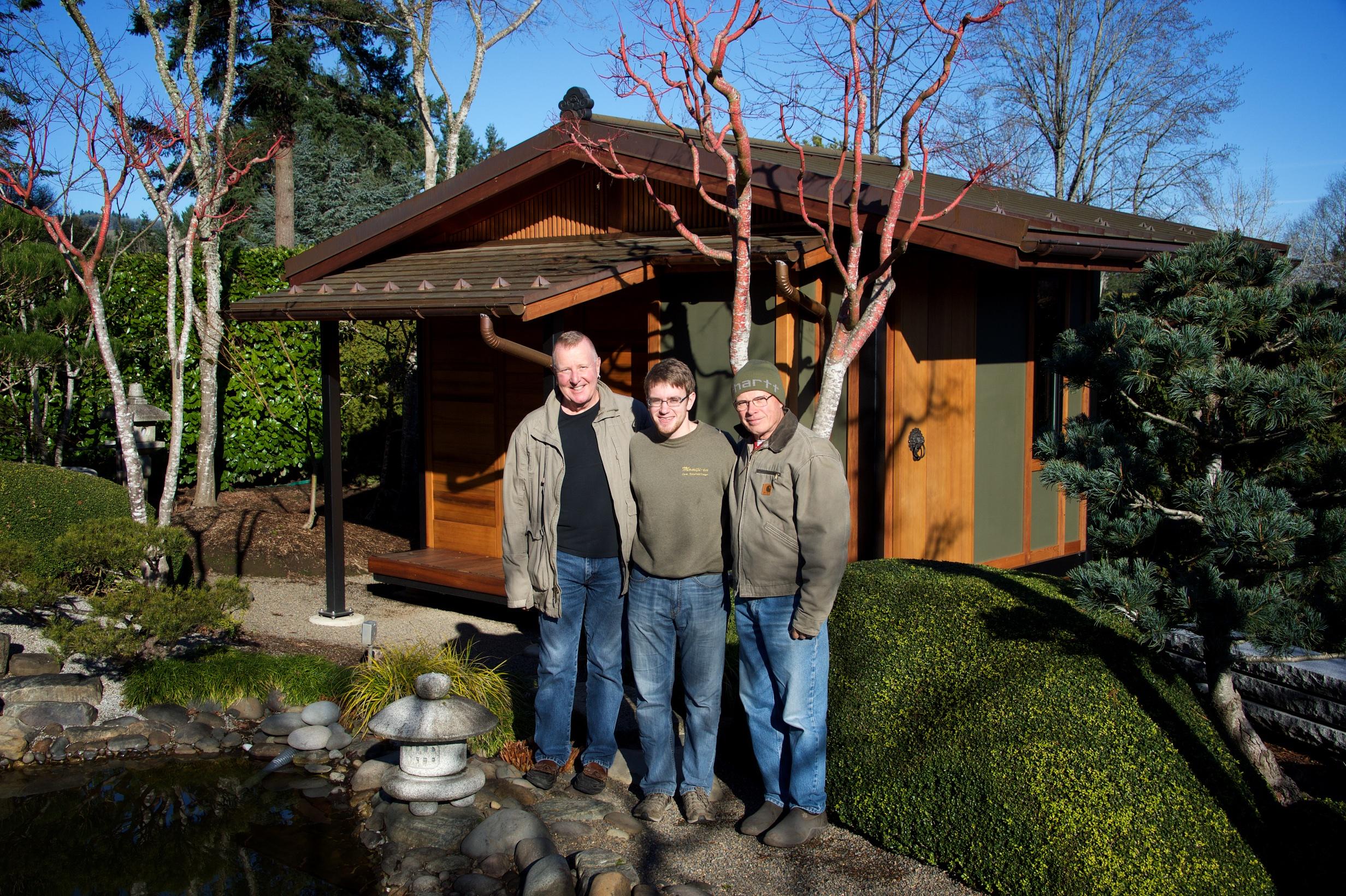 Bill Cook, Matthew Boggess, and Gwil Evans, December 2015.