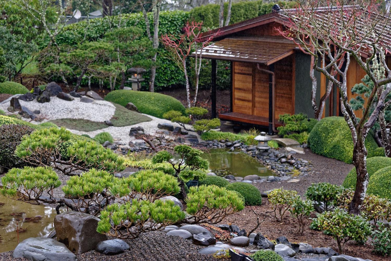 View toward tea house opens...