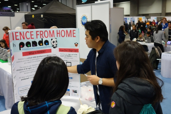 Daryl Ocampo spreading the word about PANDA at the USA Science & Engineering Festival