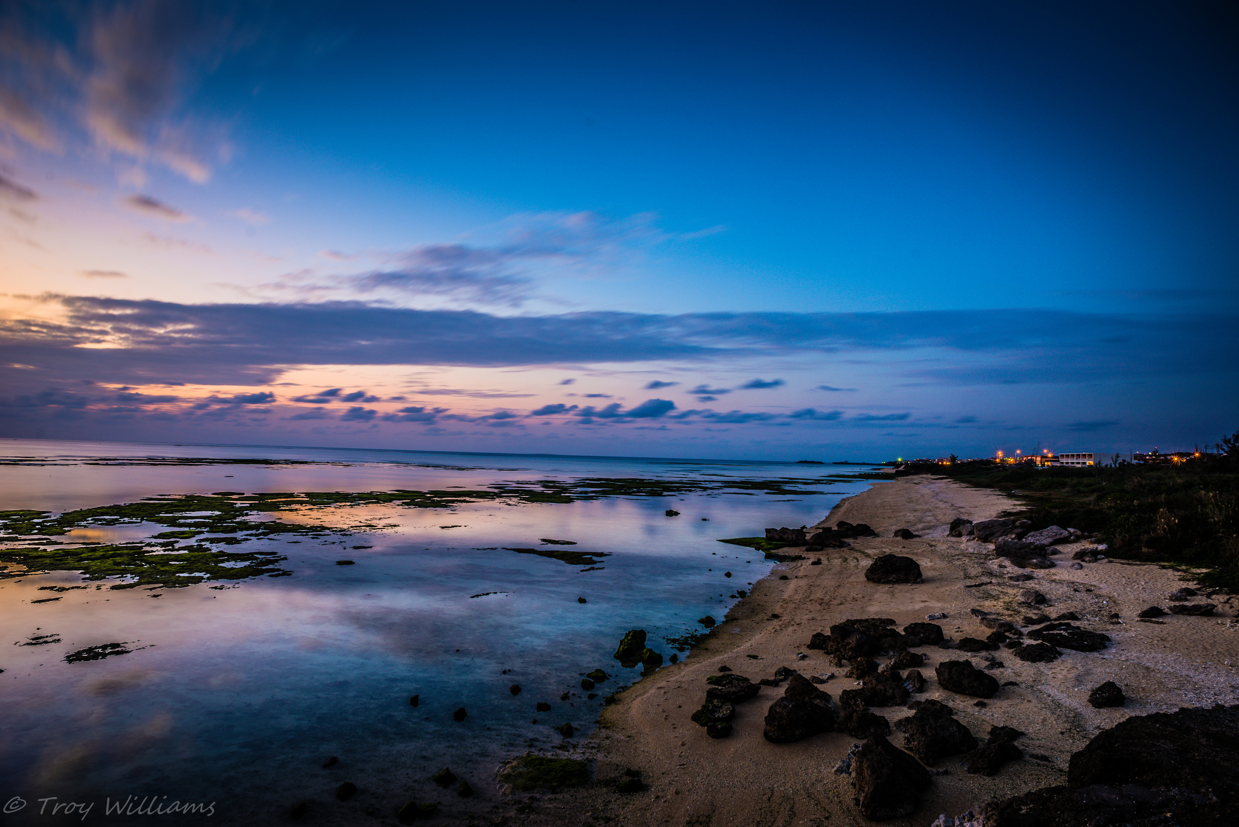 early evening view at Toguchi Beach.  Yomitan, Okinawa