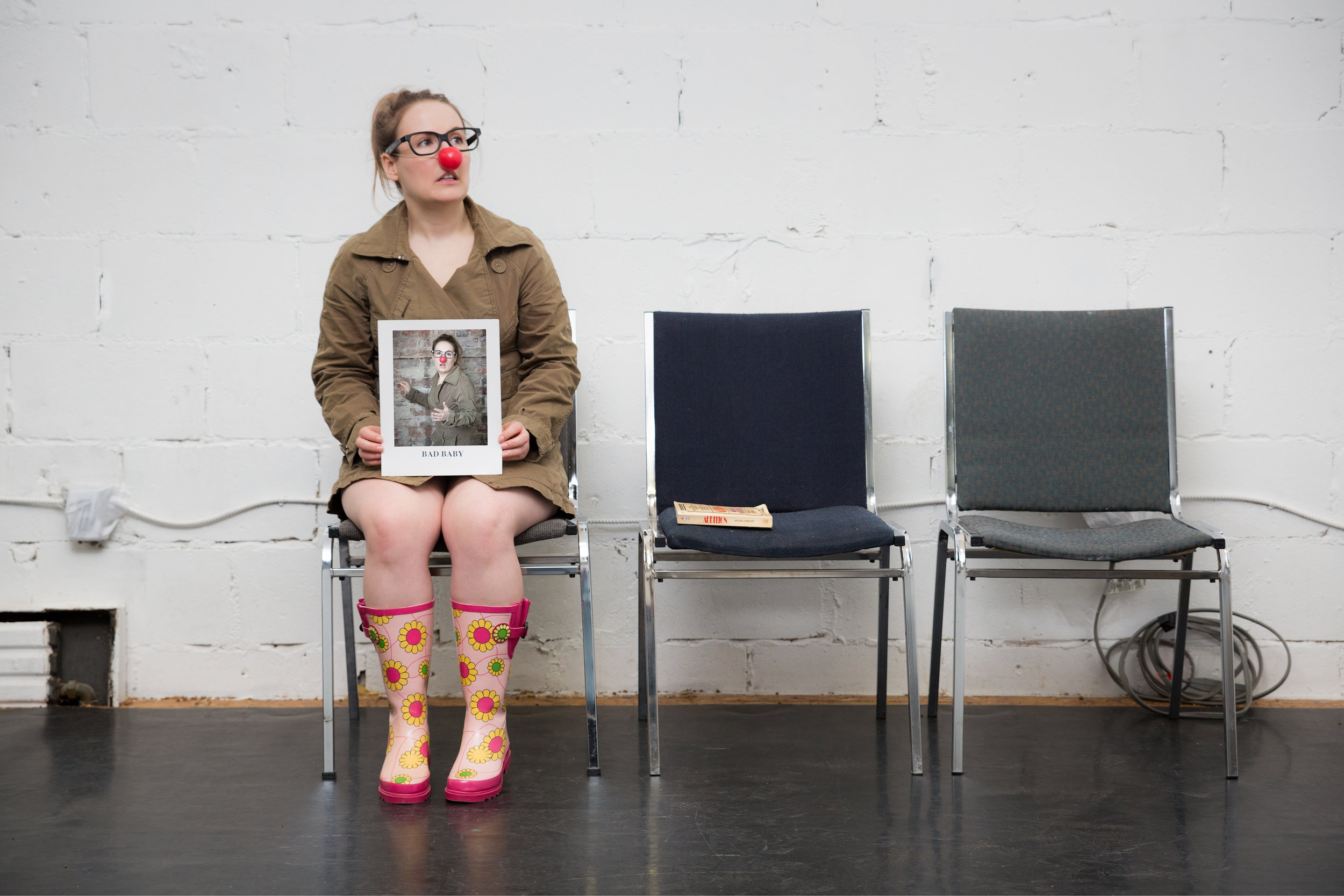 Janelle Hanna as Bad Baby. Promotional photography by Scott Murdoch - Five by Five Photography.