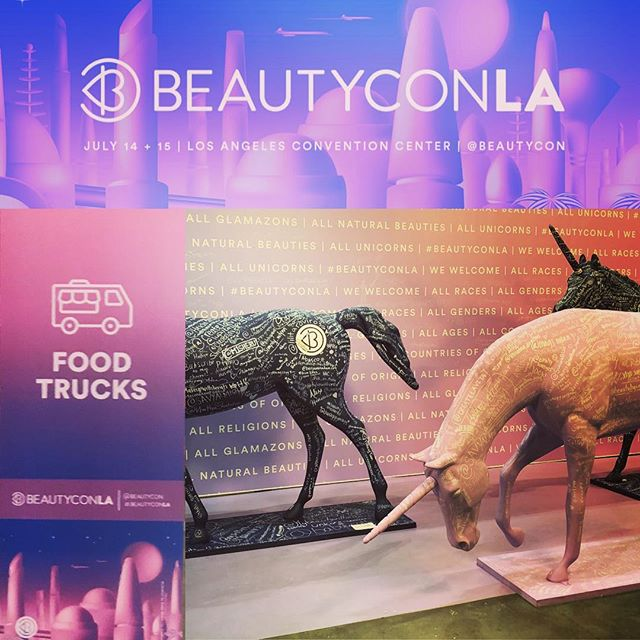 Back for day 2 @beautycon 💄 👄 see you for lunch #thetropictruck #caribbeanfood #makeup #beautycon @covergirl @benefitcosmetics #nyxcosmetics