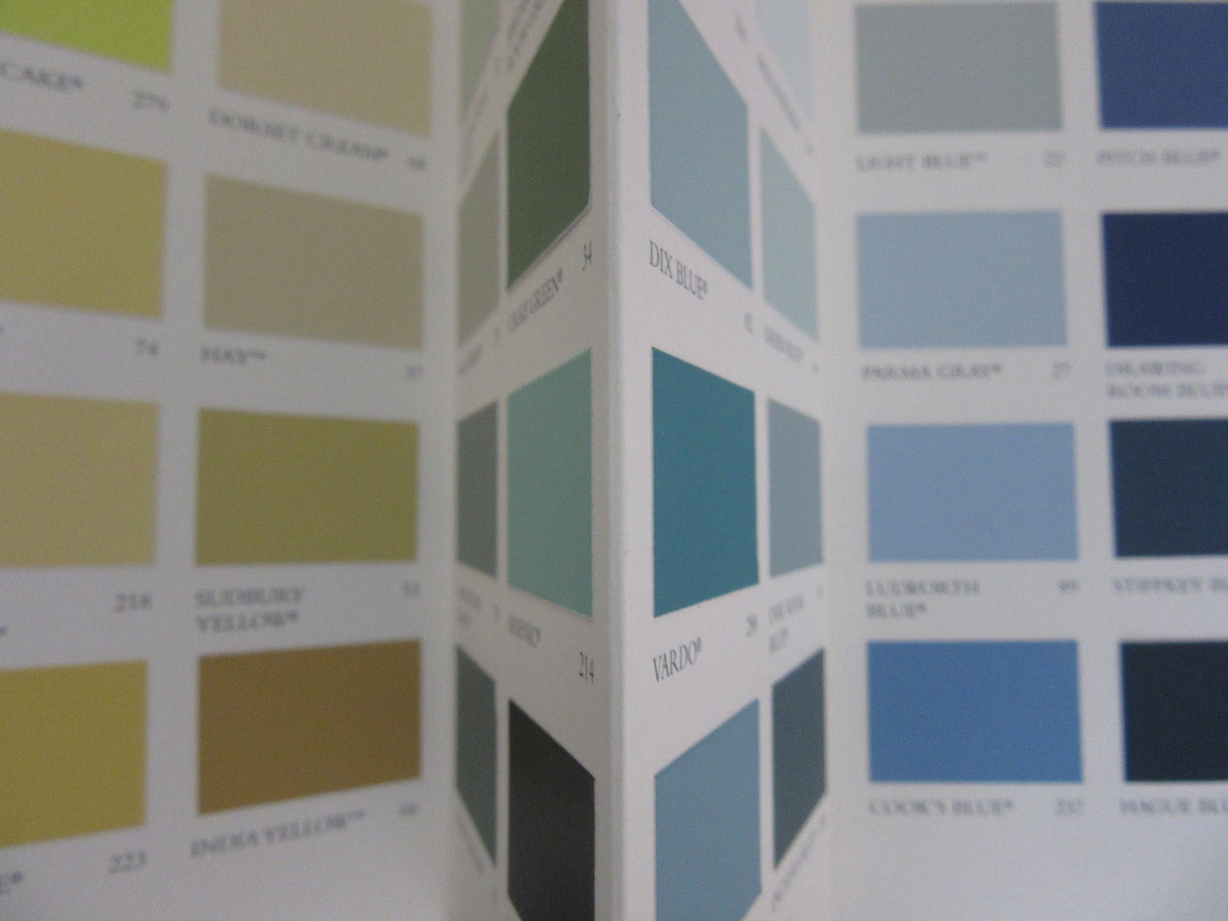 Farrow & Ball colour card