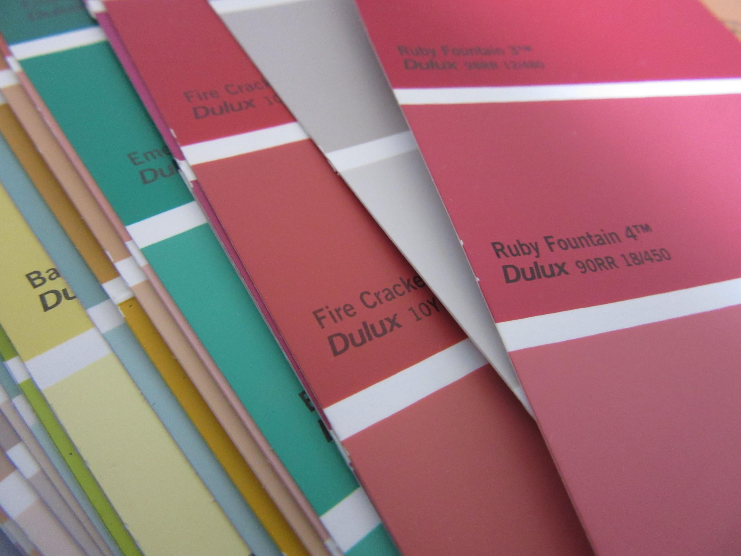Dulux colour swatches