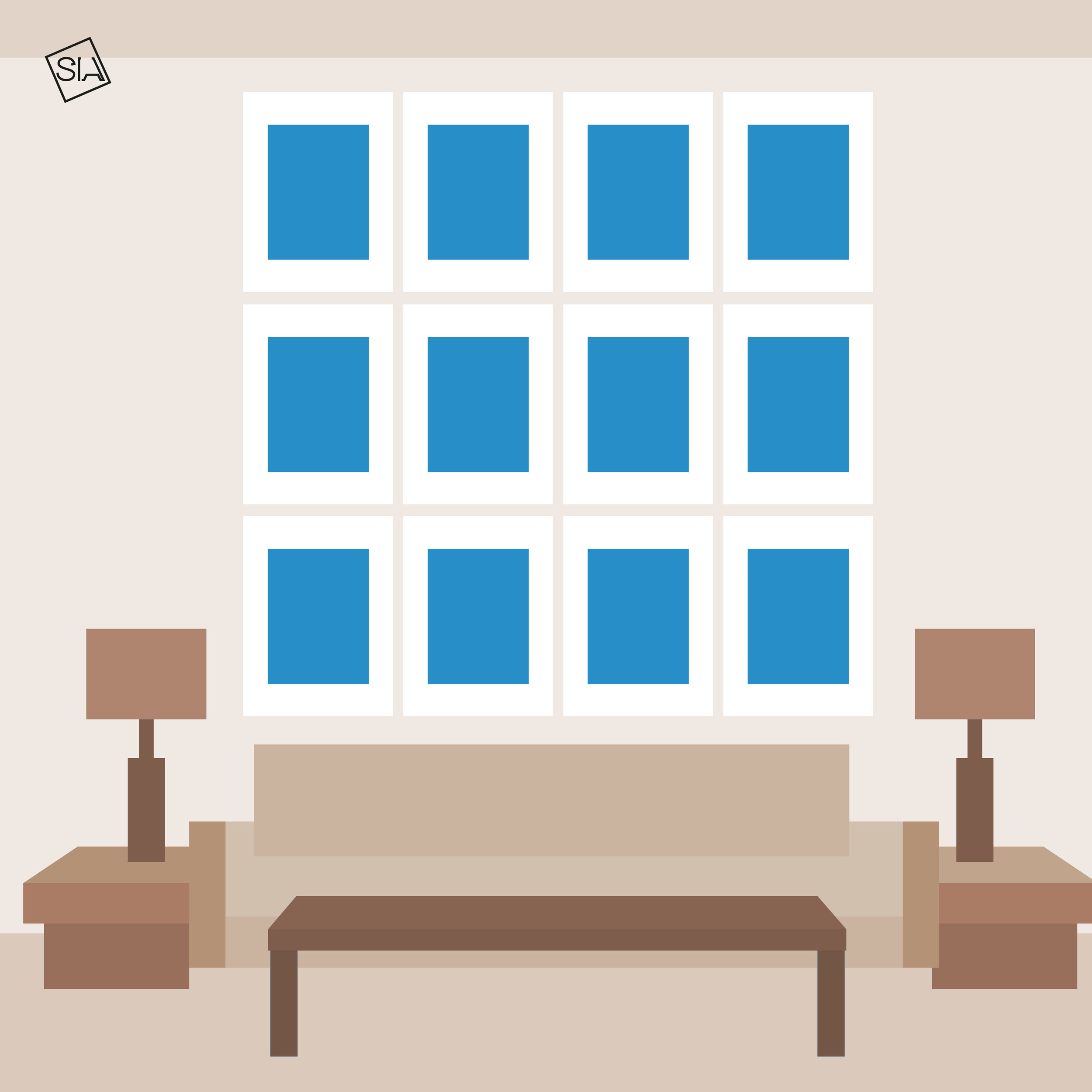 Gallery wall grid