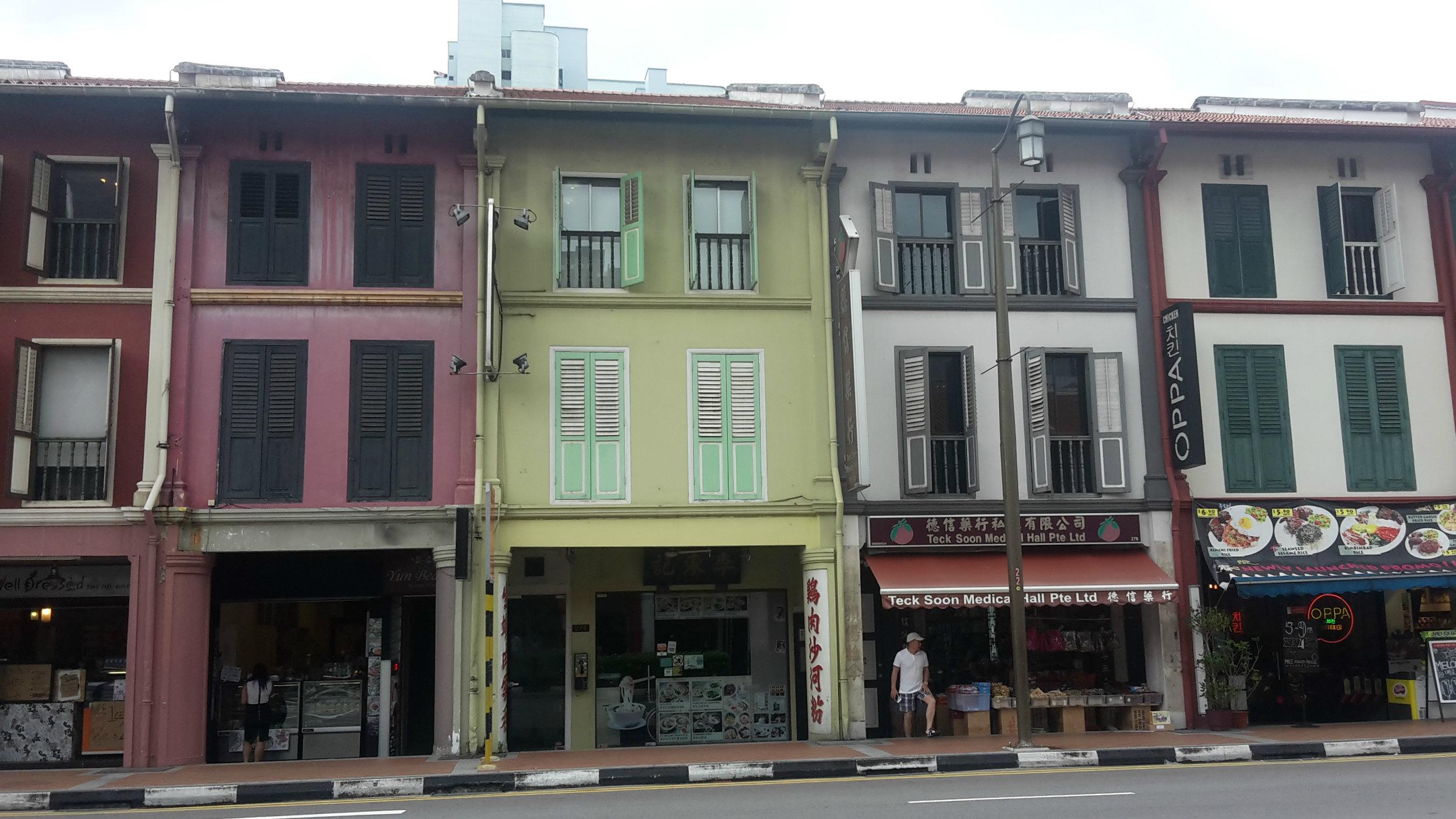 Colourful shops, Chinatown Singapore