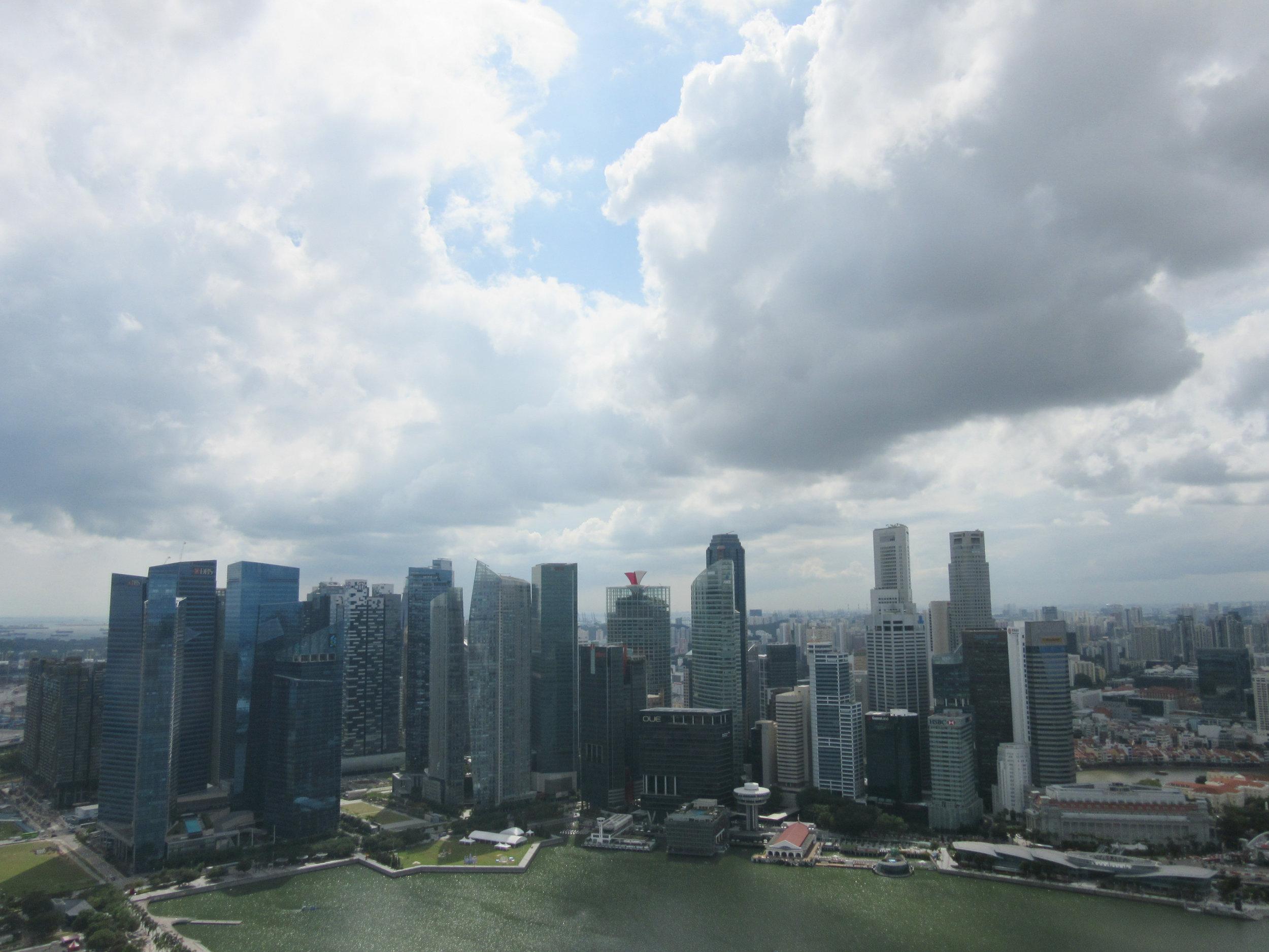 Singapore skyline seen from Marina Bay Sands