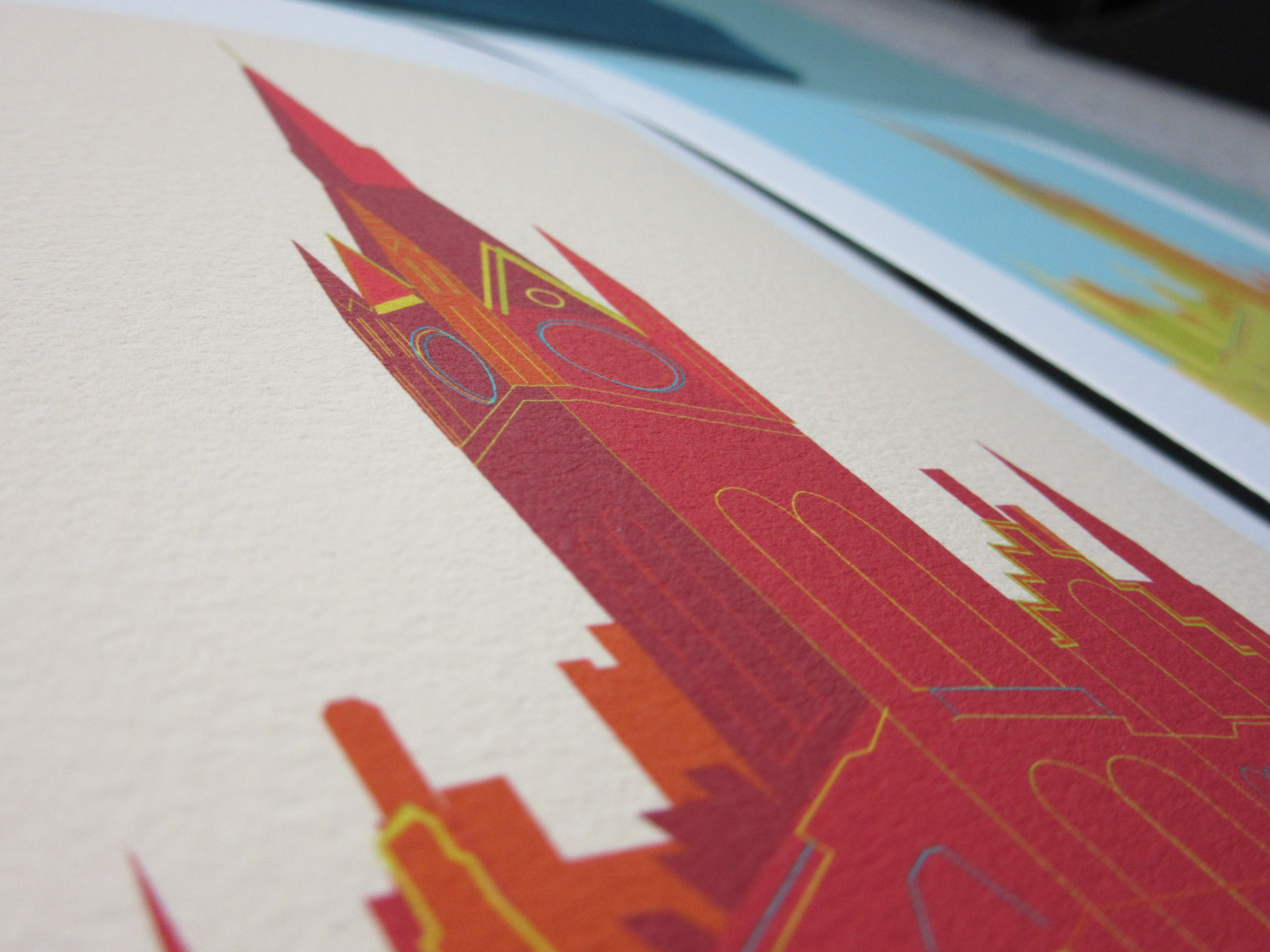 Colour options were provided for the customised St Pancras print