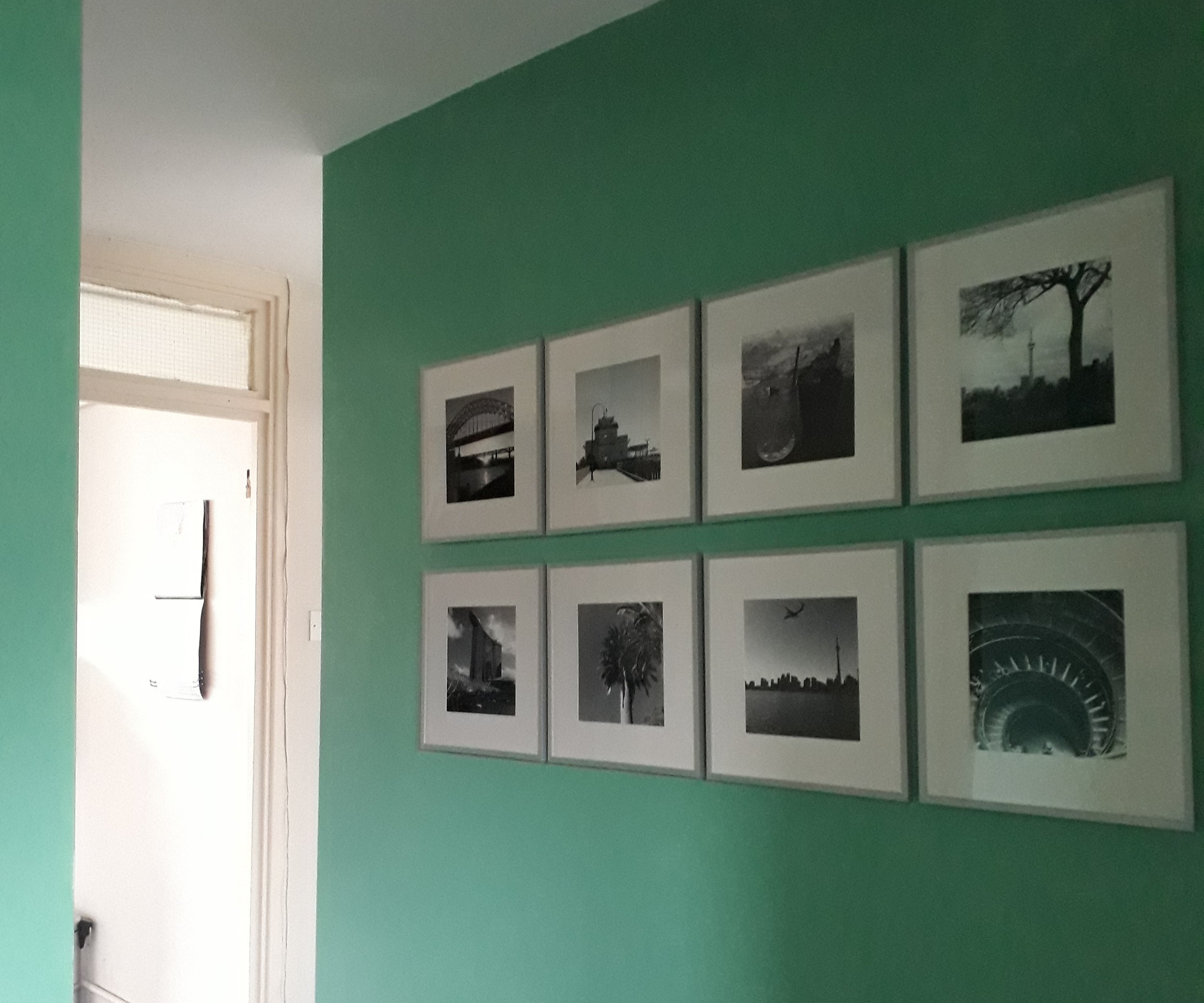 Gallery wall grid of travel photos