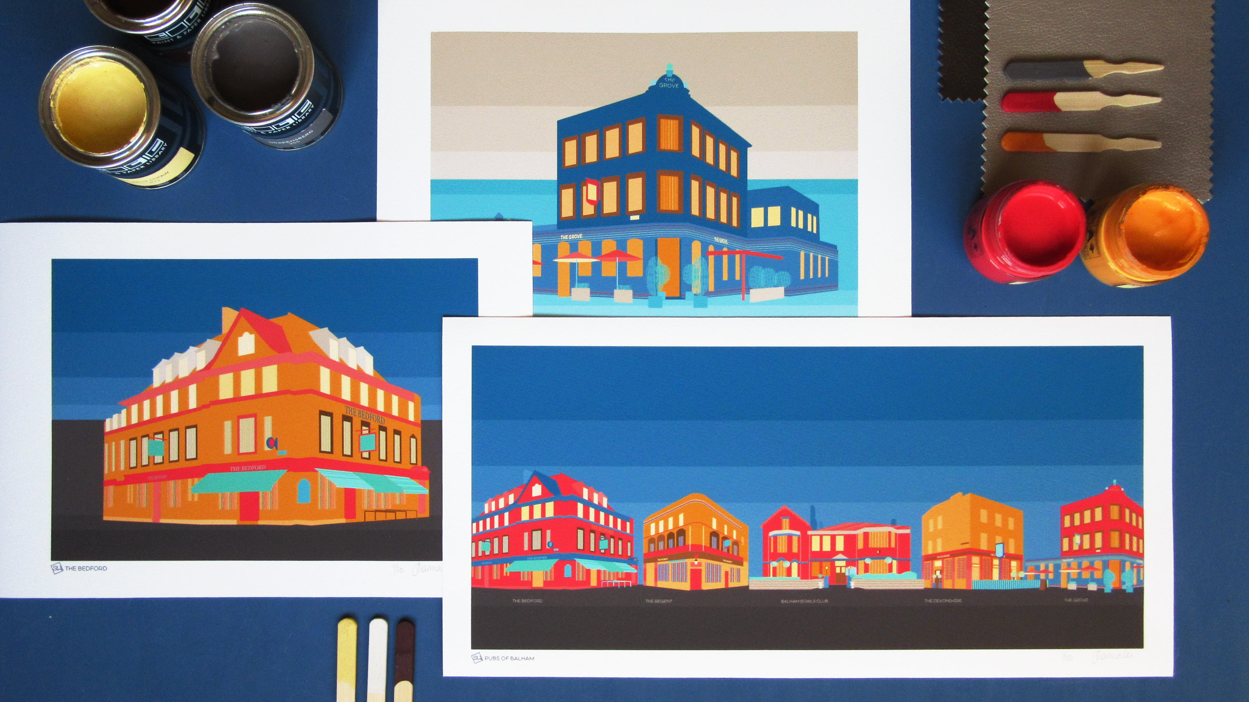 Art prints of Balham & Tooting pubs - Celebrating the local pub with a thousand stories.