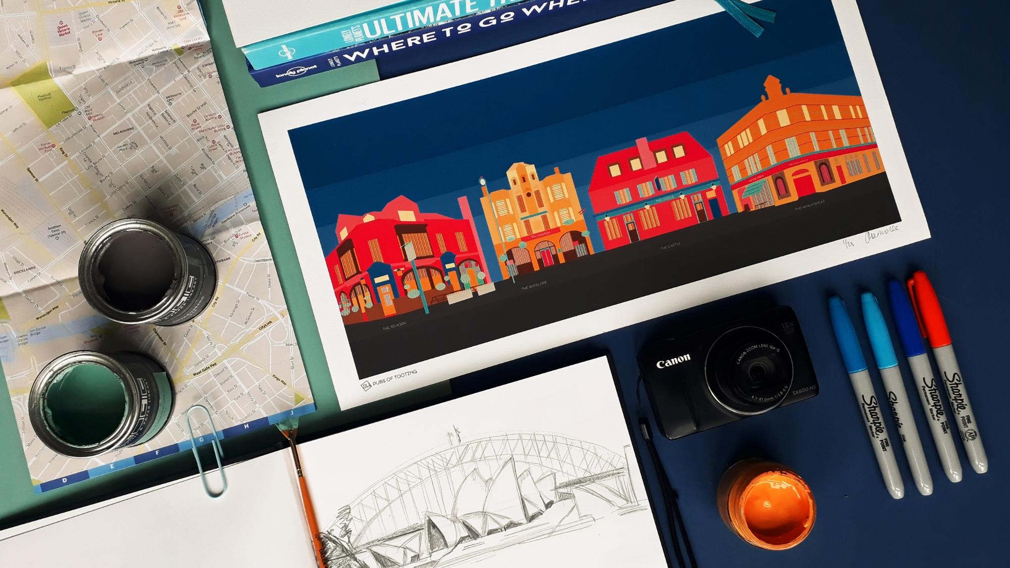 South Island Art travel art design process.jpg