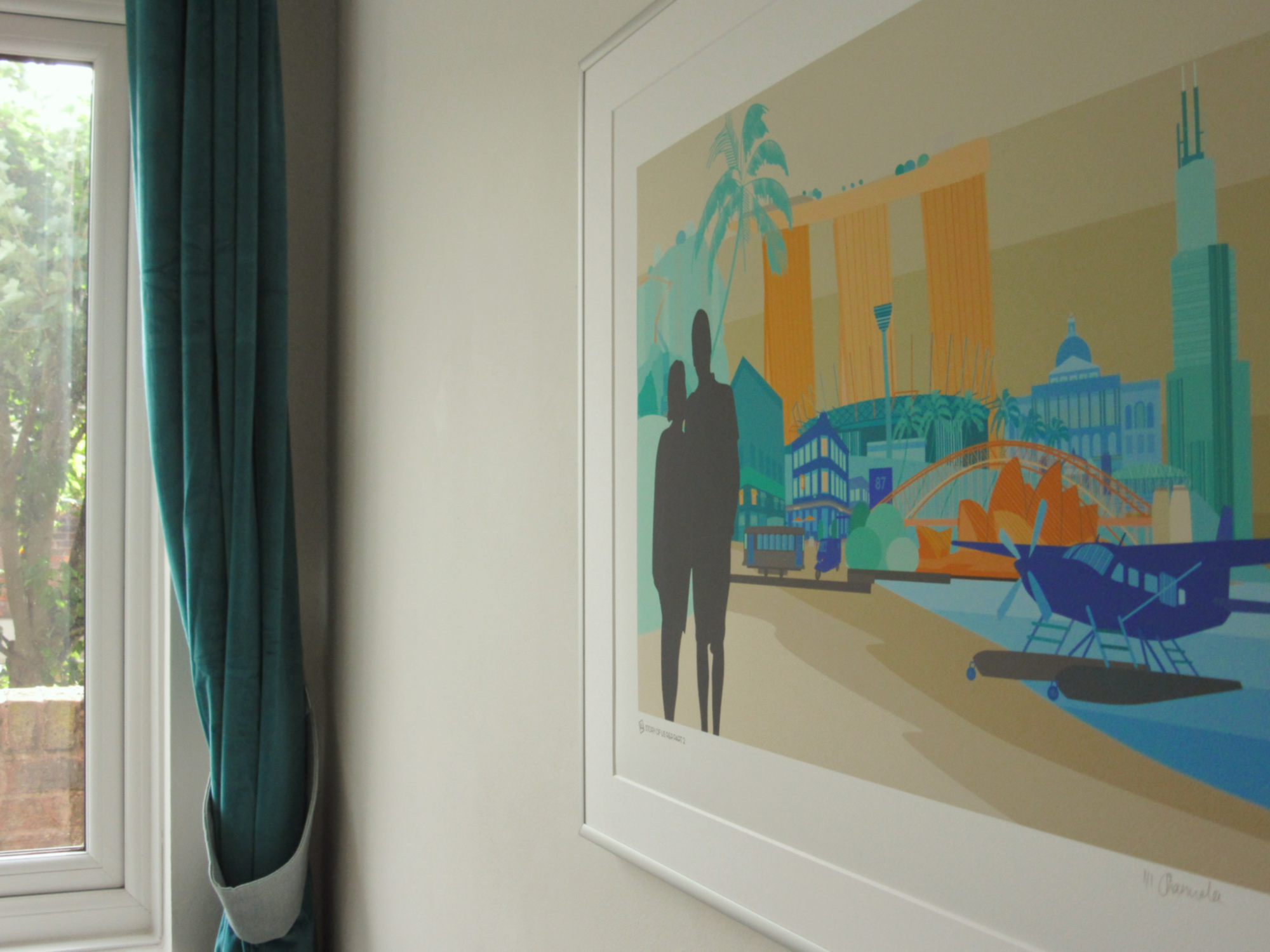 Bespoke commissions - Commissions range from my Storyline Skyline concept, composed of your favourite travel memories and moments, to special venue illustrations and bespoke homeware