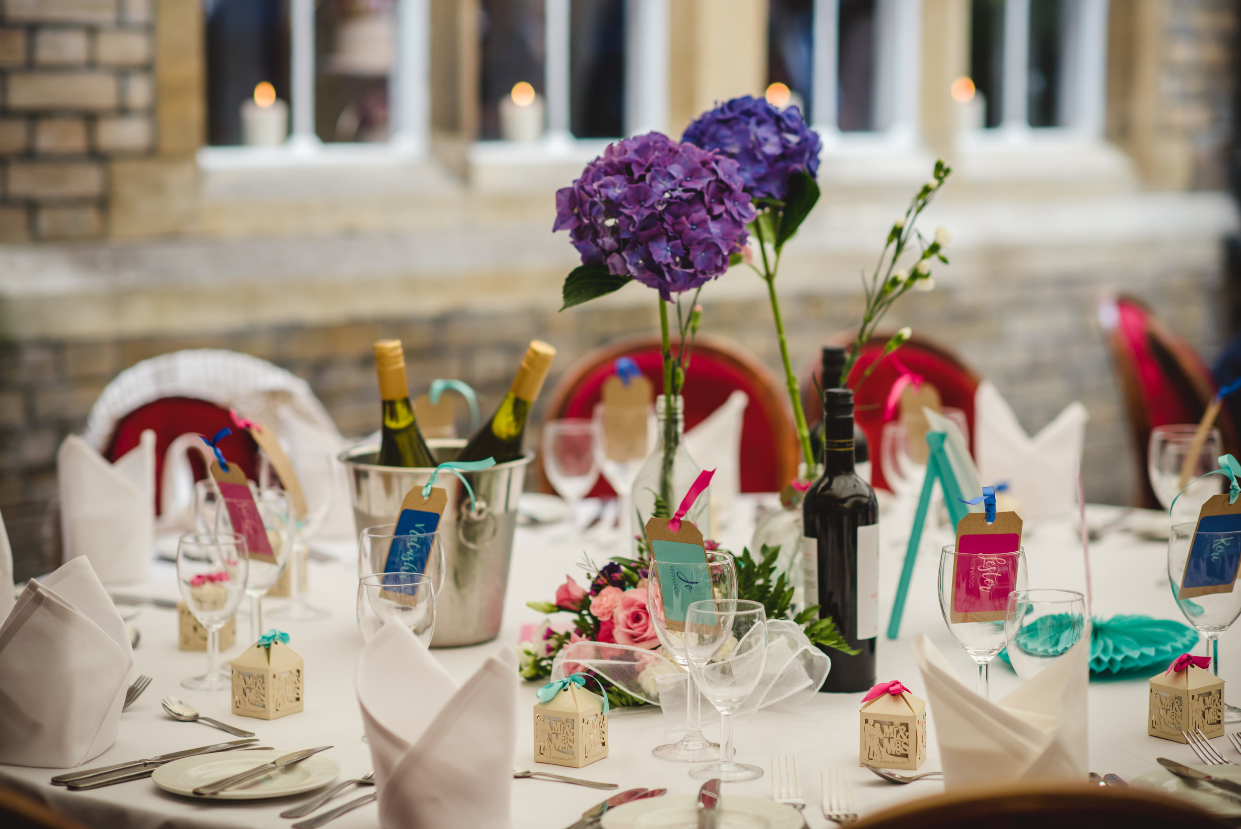 Colourful wedding table by South Island Art