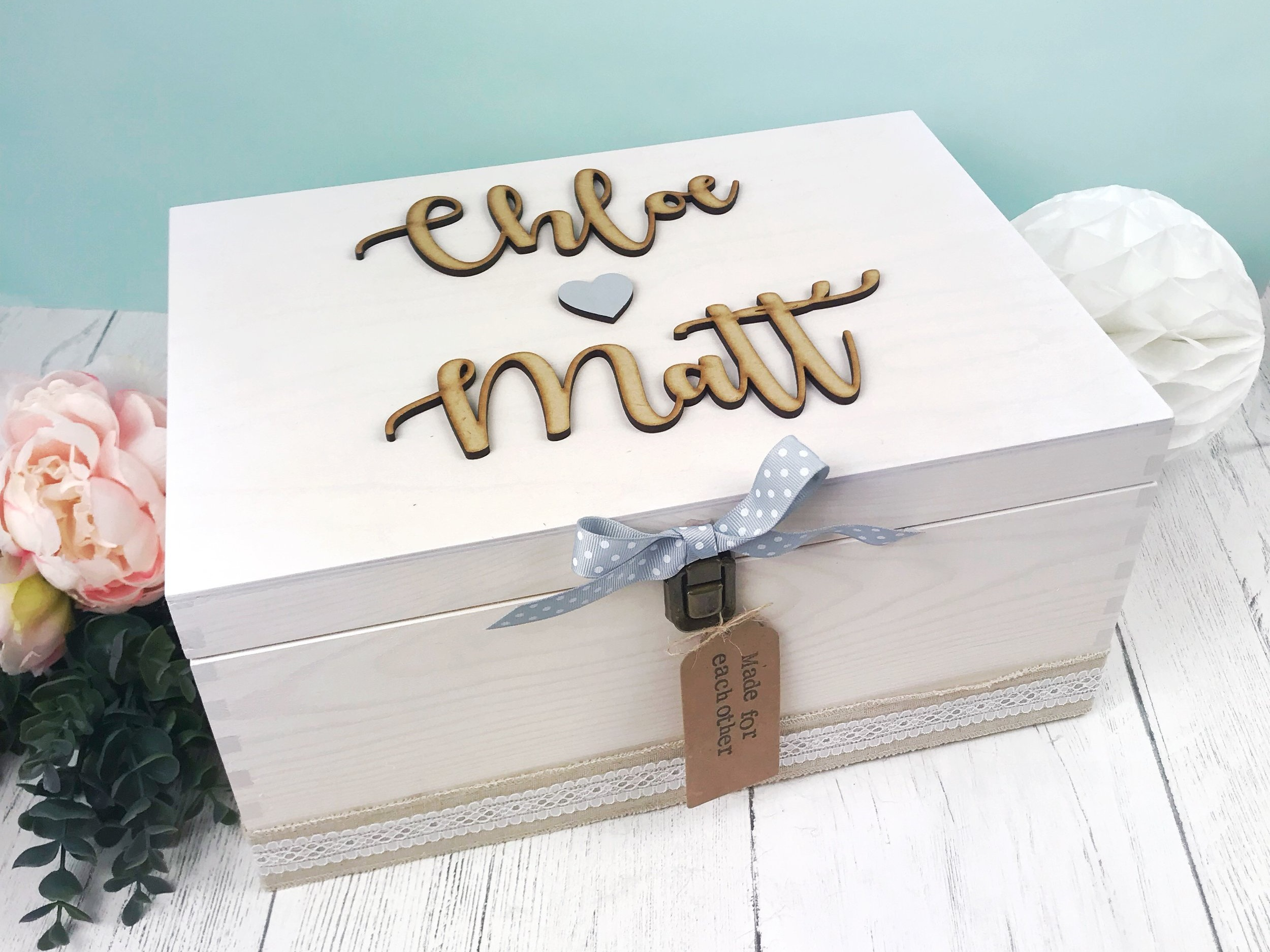 Wedding Keepsake boxes by  Little Things By Lucy