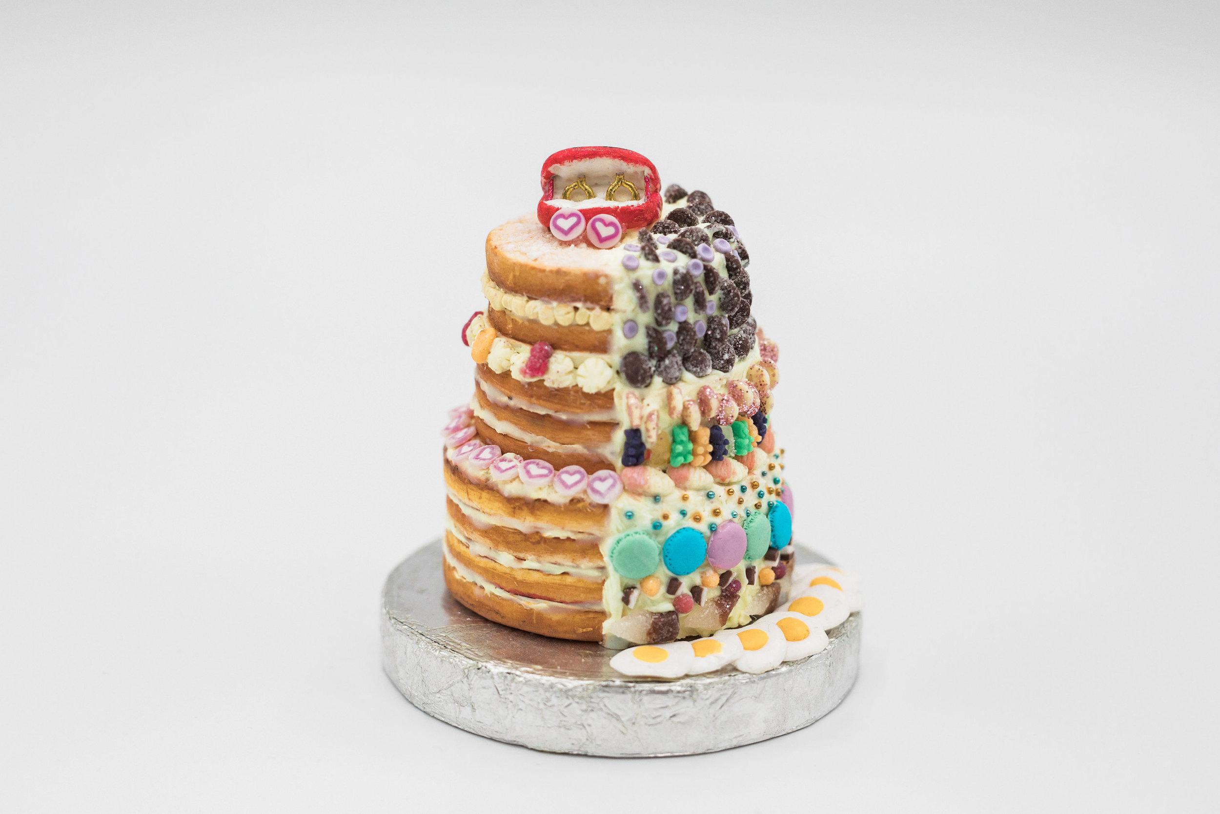 Wedding cake replicas by  Tiny Treat Boutique