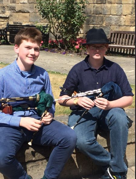 Kay Adamson (left) and Jack Famelton (right) from QEHS.JPG
