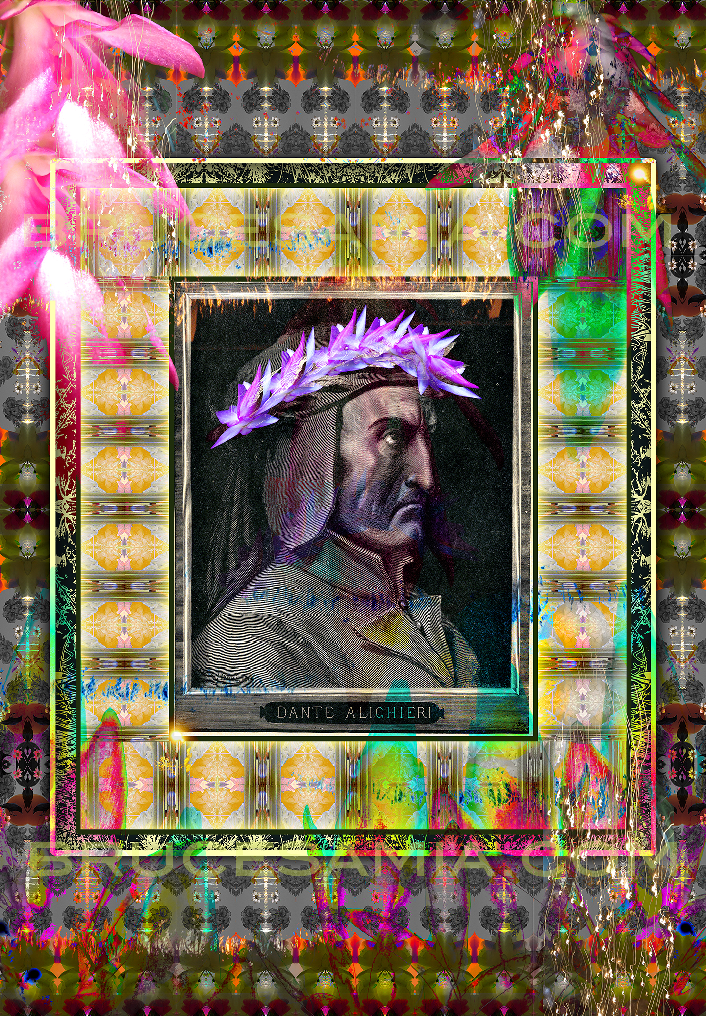 2.danté collage-portrait of doré ed.25
