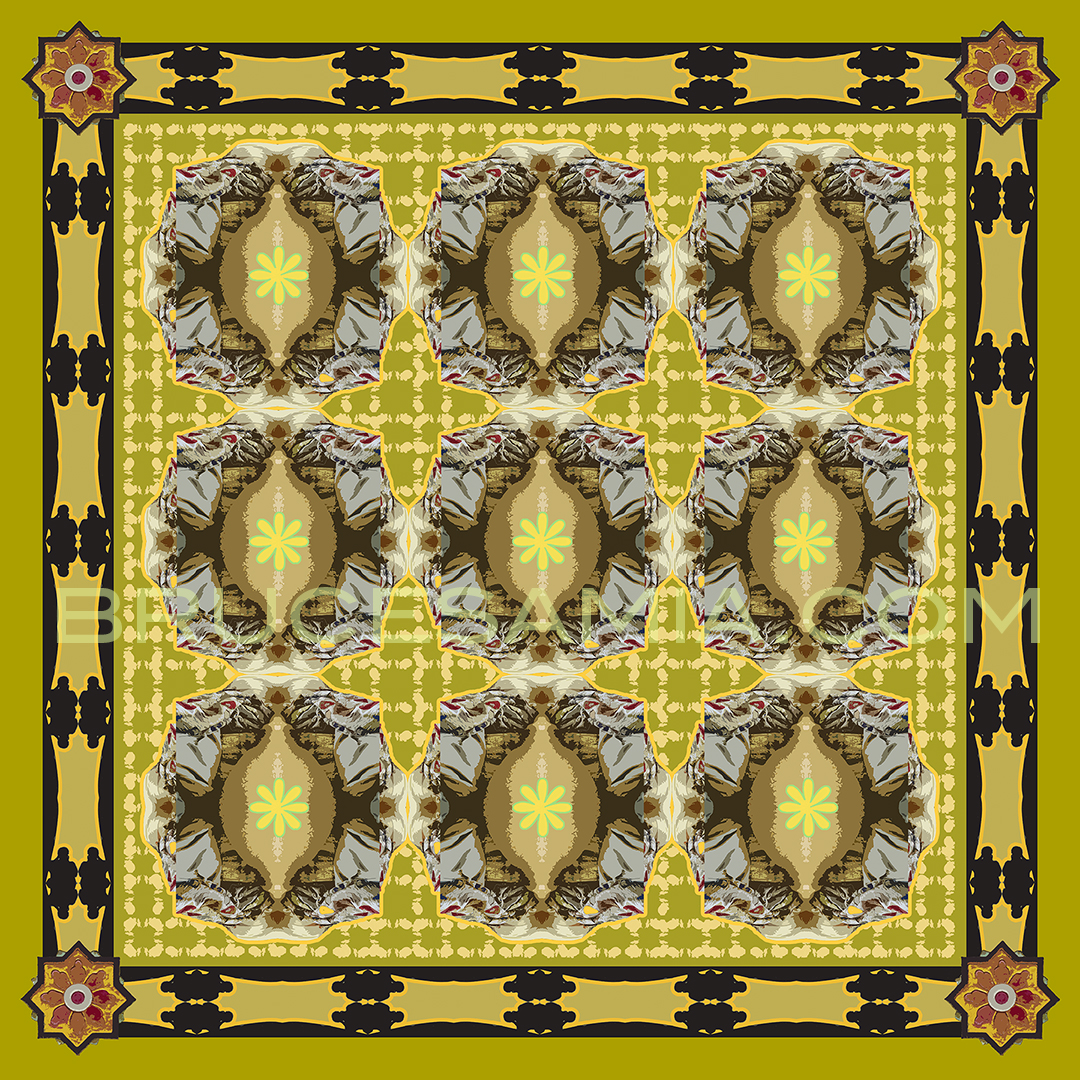 ARABESQUE-PATTERN -CURRY  TILE