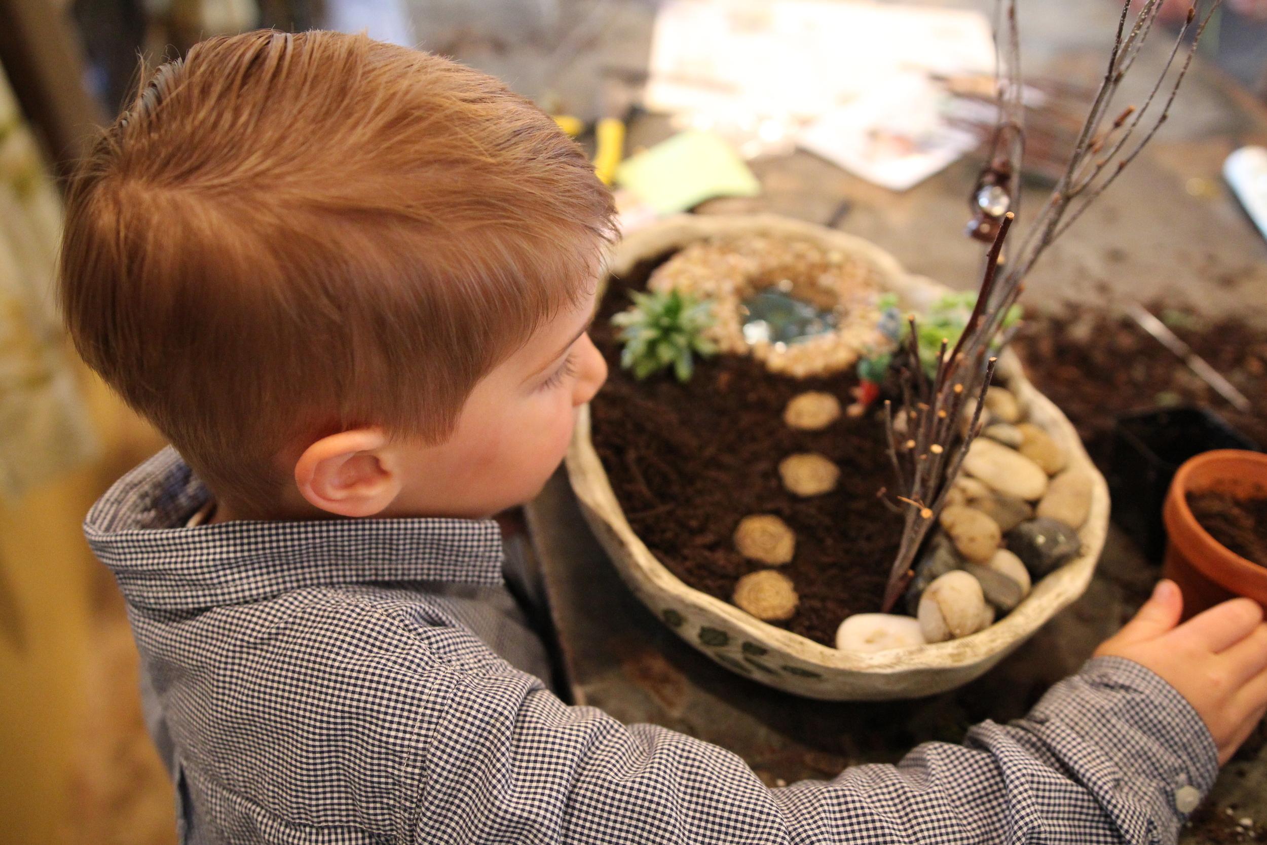 Fairy garden kid's party