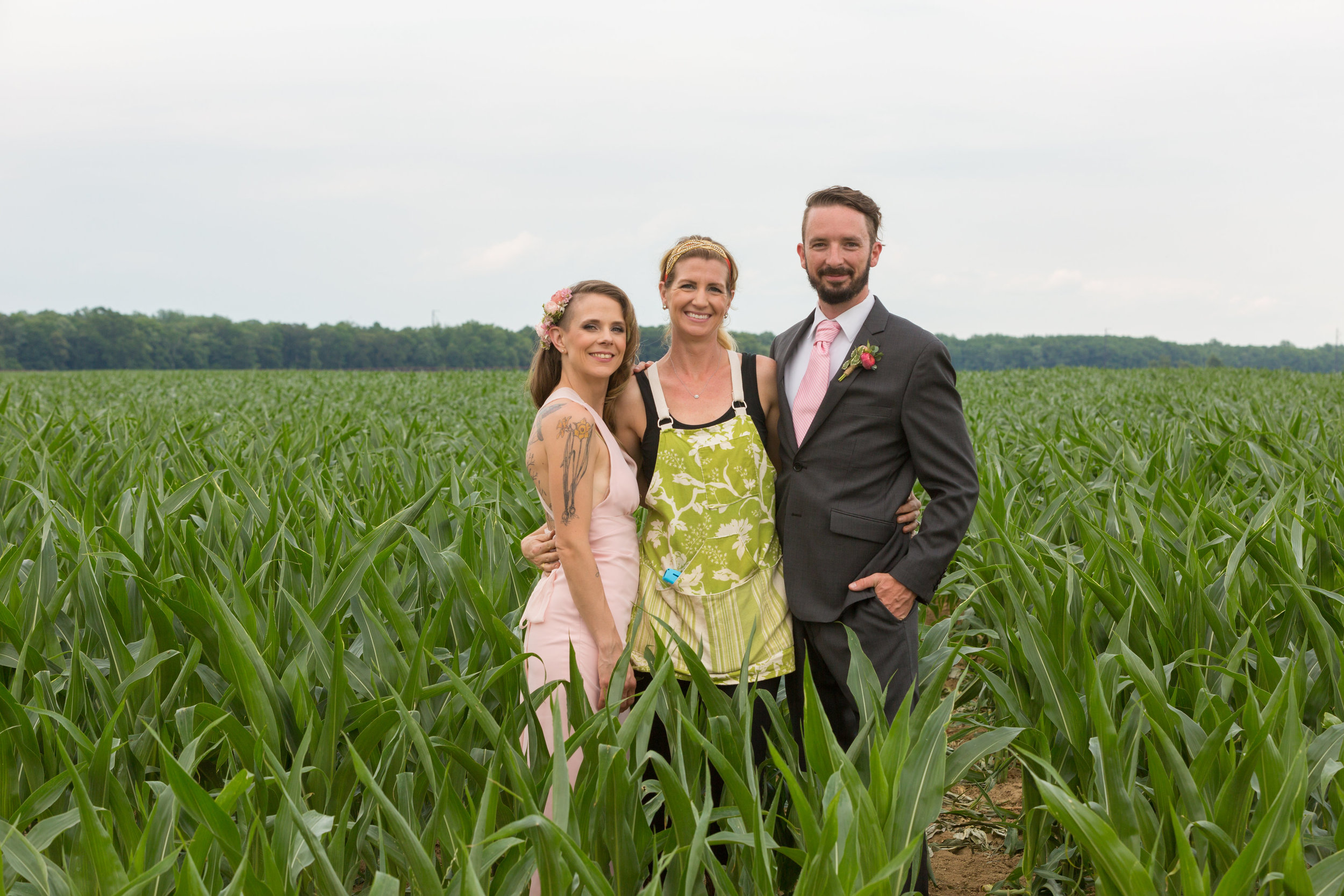 Mary, Stephen and Jill posing during photo shoot