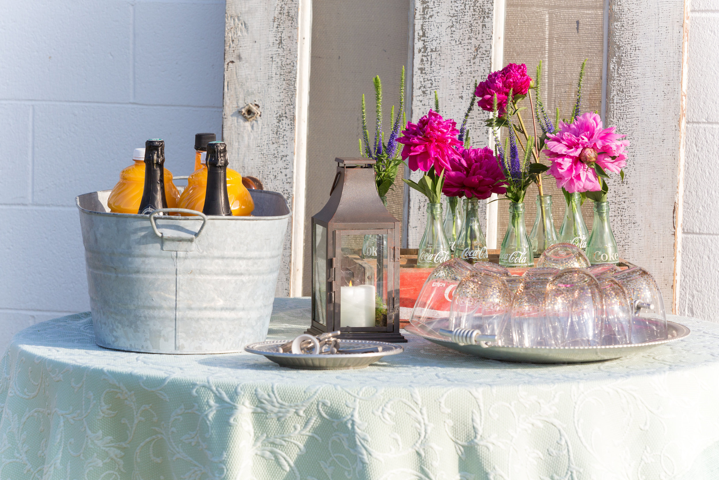 A Milkhouse Party outdoor drink display