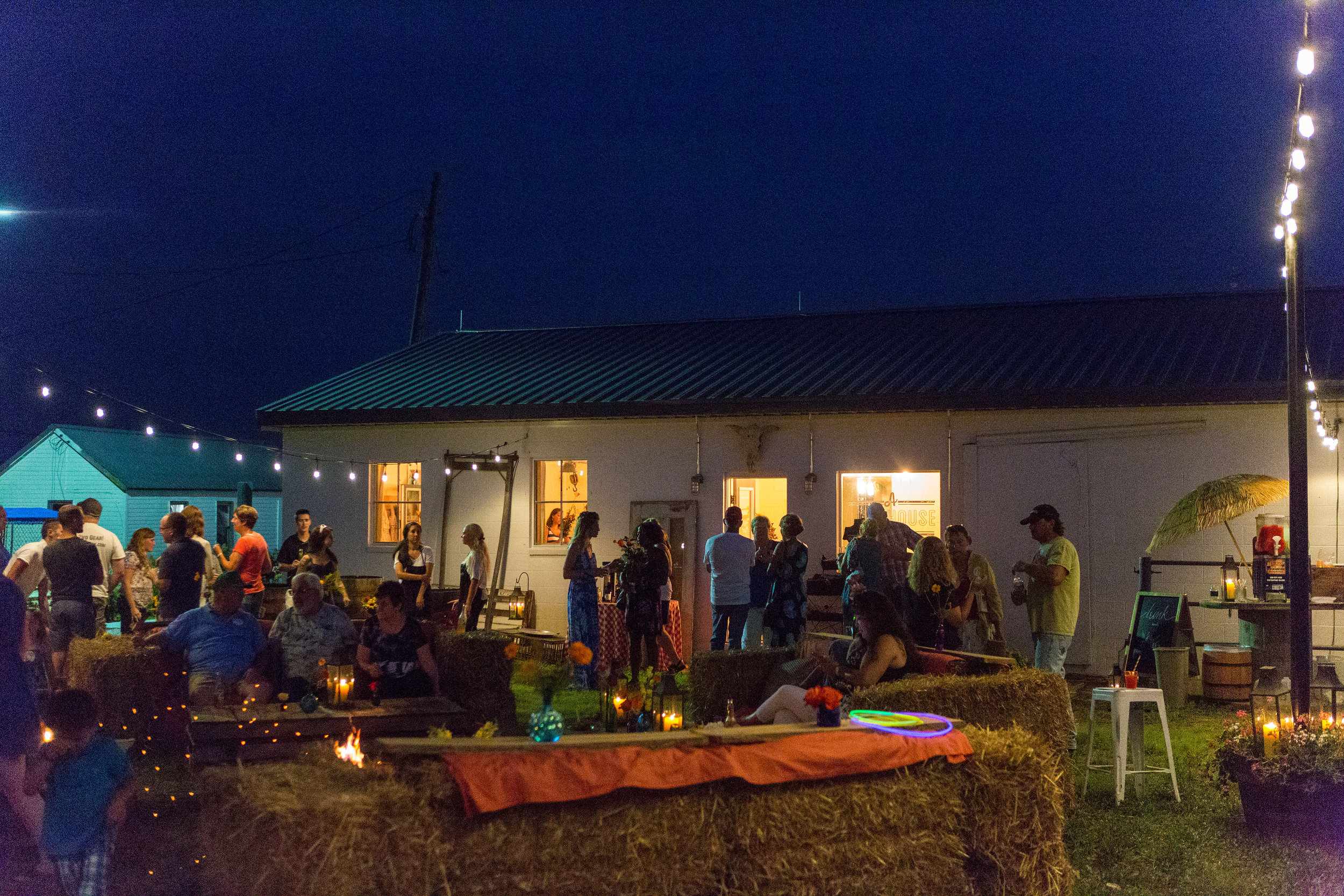 Outdoor party scene at A Milkhouse Party