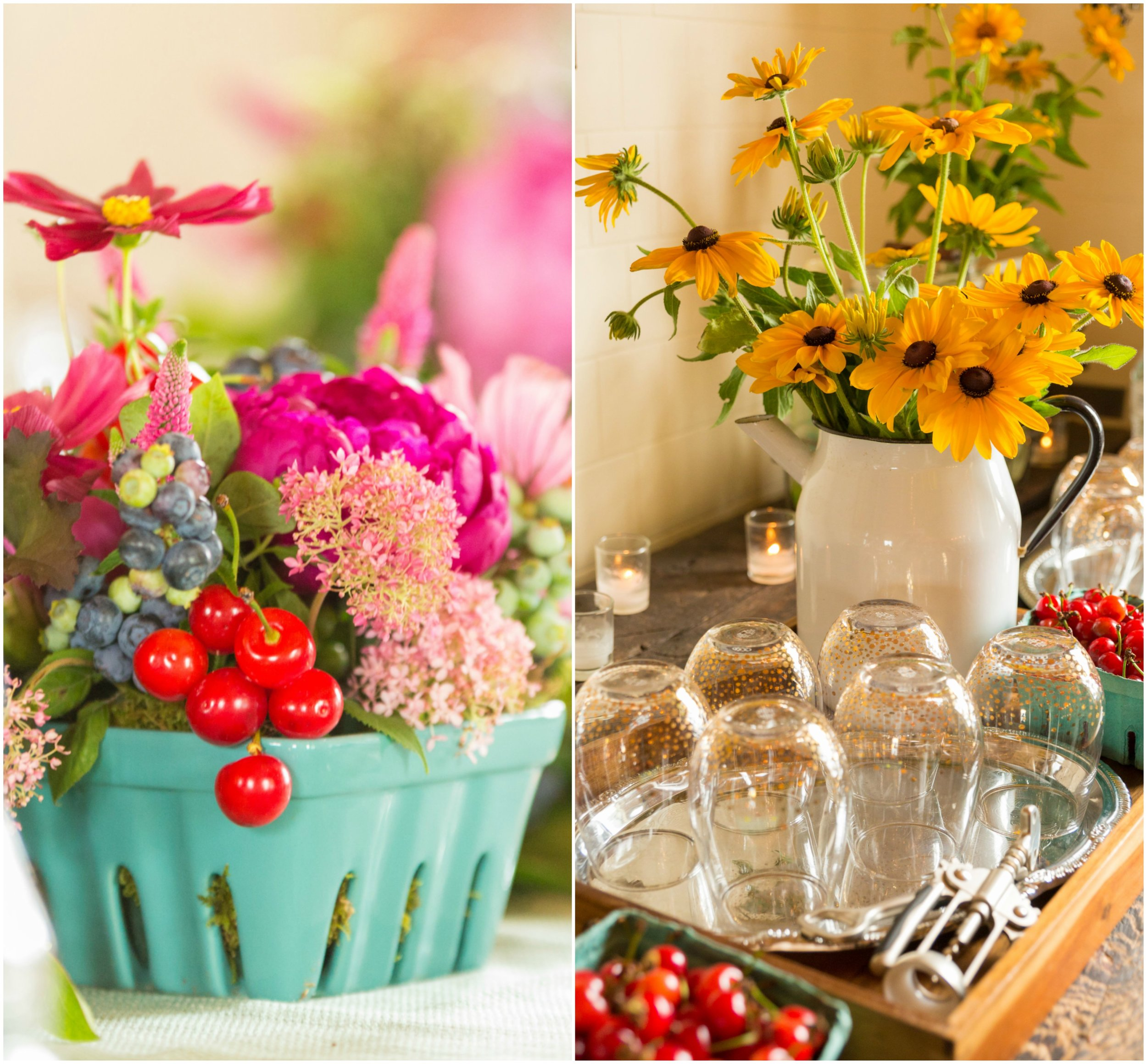 Farm to Table themed decor at A Milkhouse Party