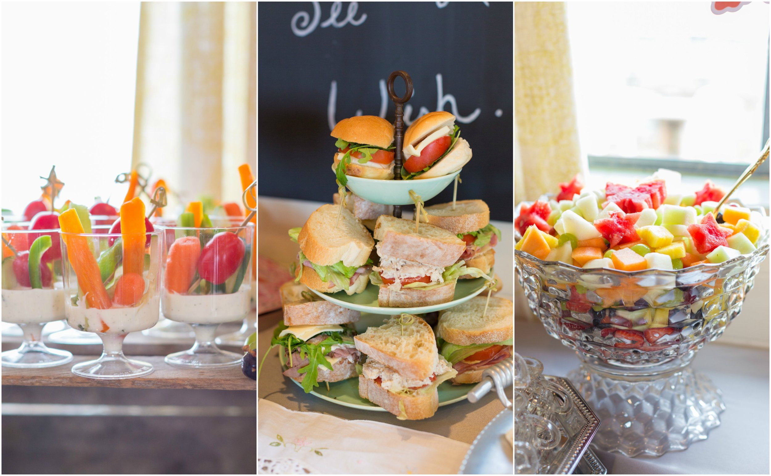 Mommy & Me tea party food display by Rode's Catering