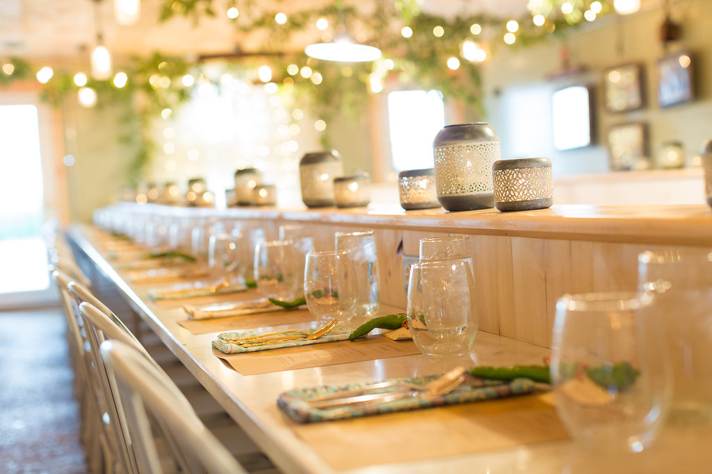 Place settings from Farm to Table Dinner at A Milkhouse Party