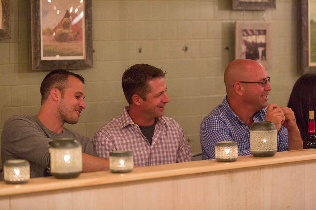 guests enjoying Farm to Table dinner
