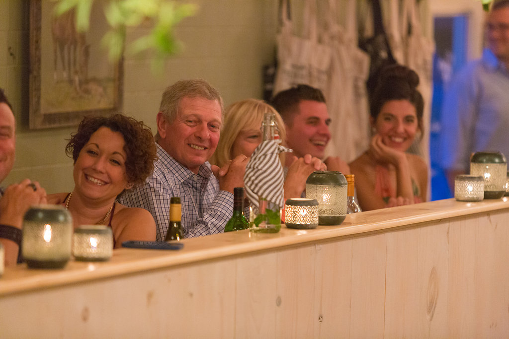 guests enjoying dinner at A Milkhouse Party