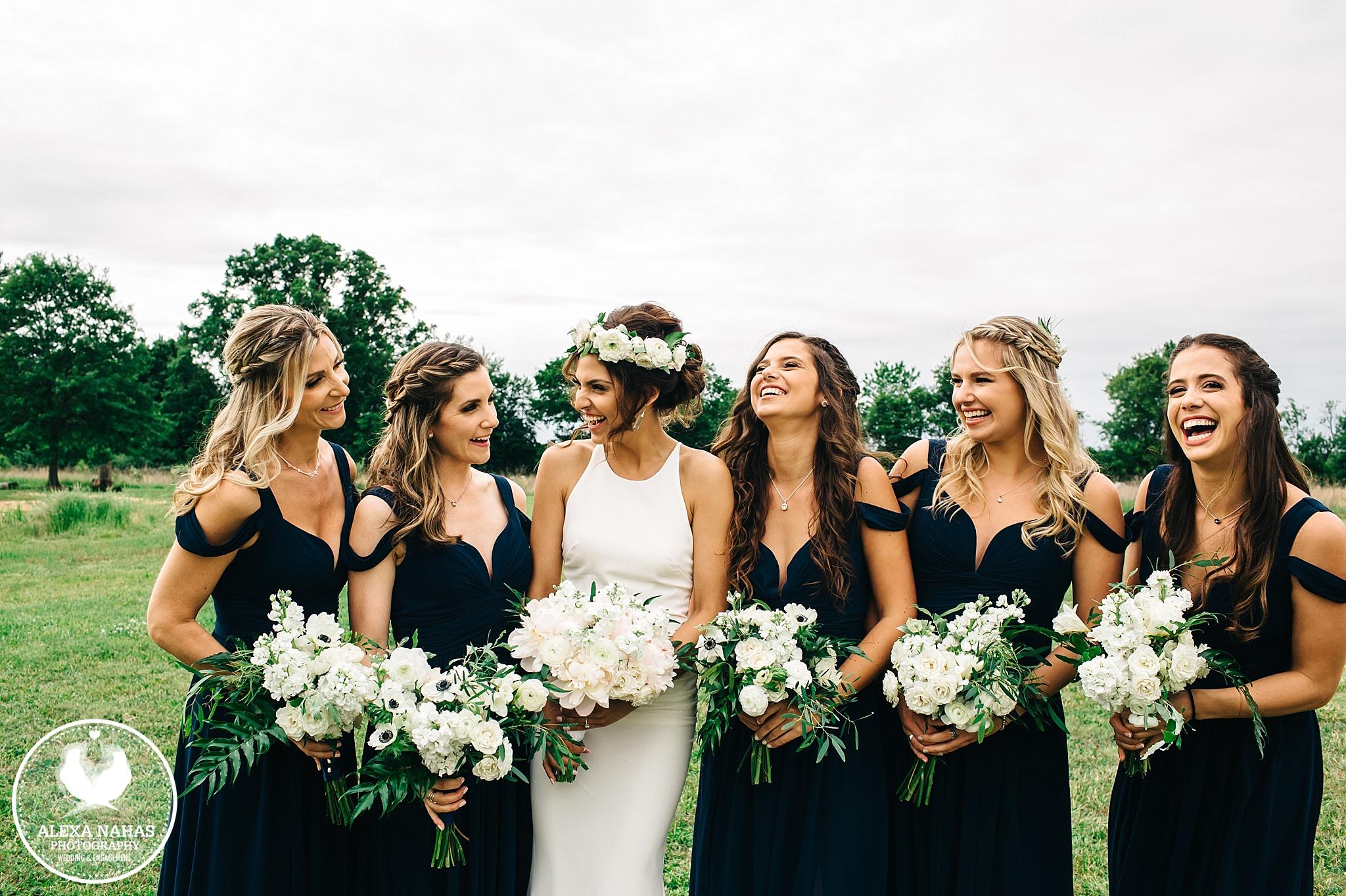 Renee and Bridesmaids DIY bouquets