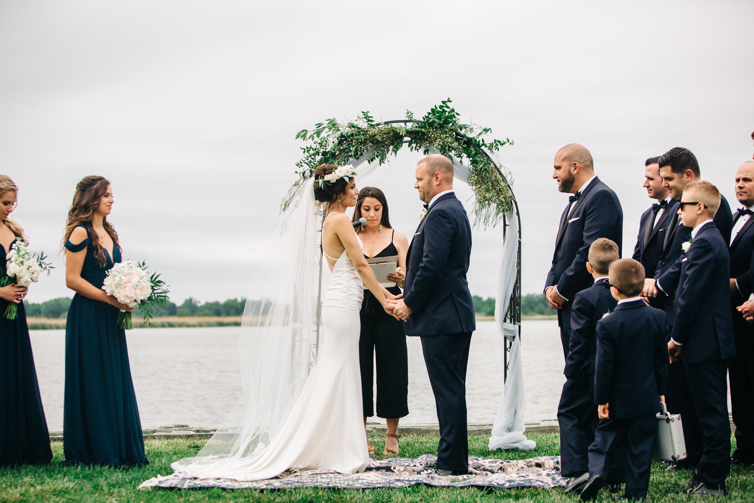 Joe and Renee wedding ceremony