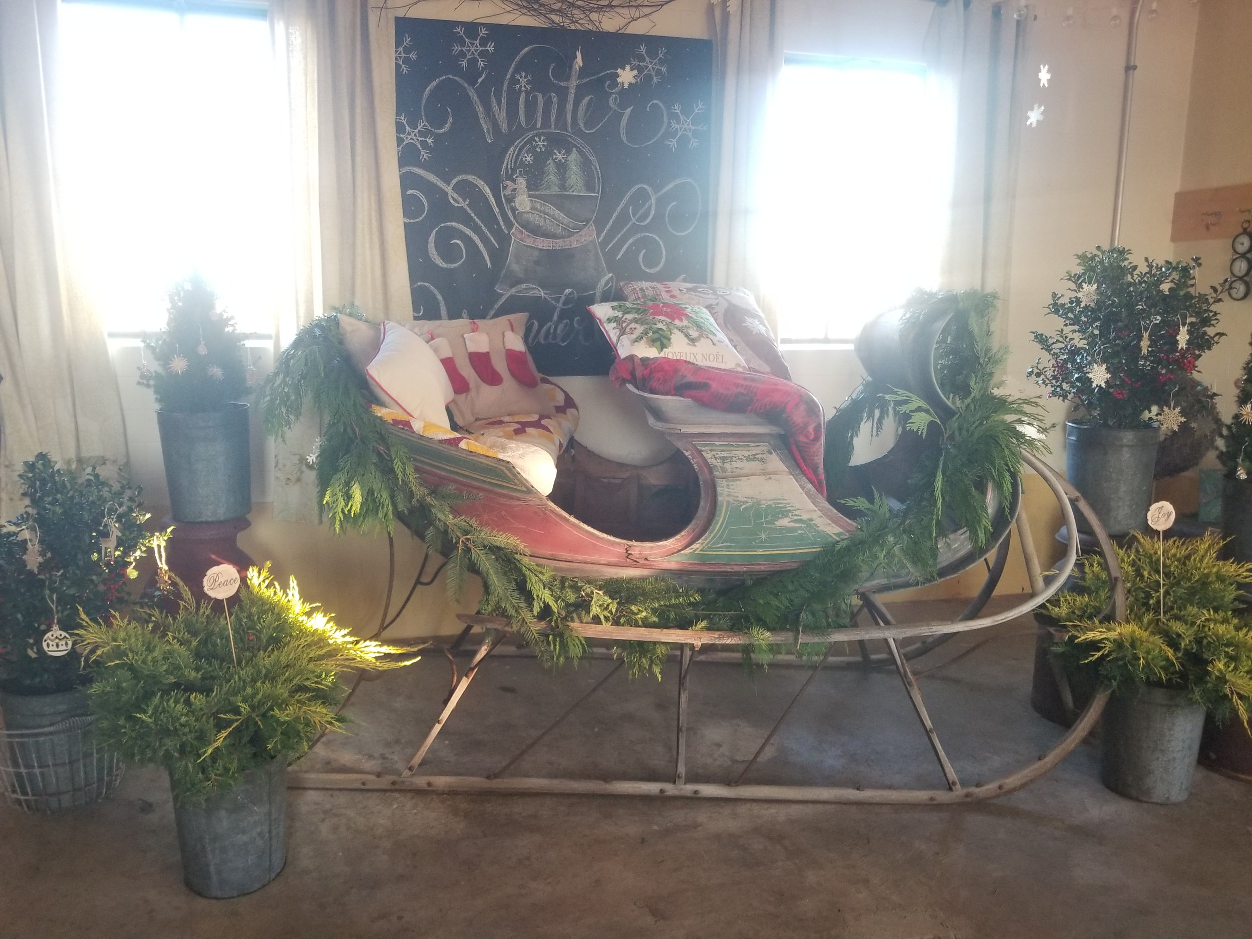 vintage sled from A Milkhouse Party