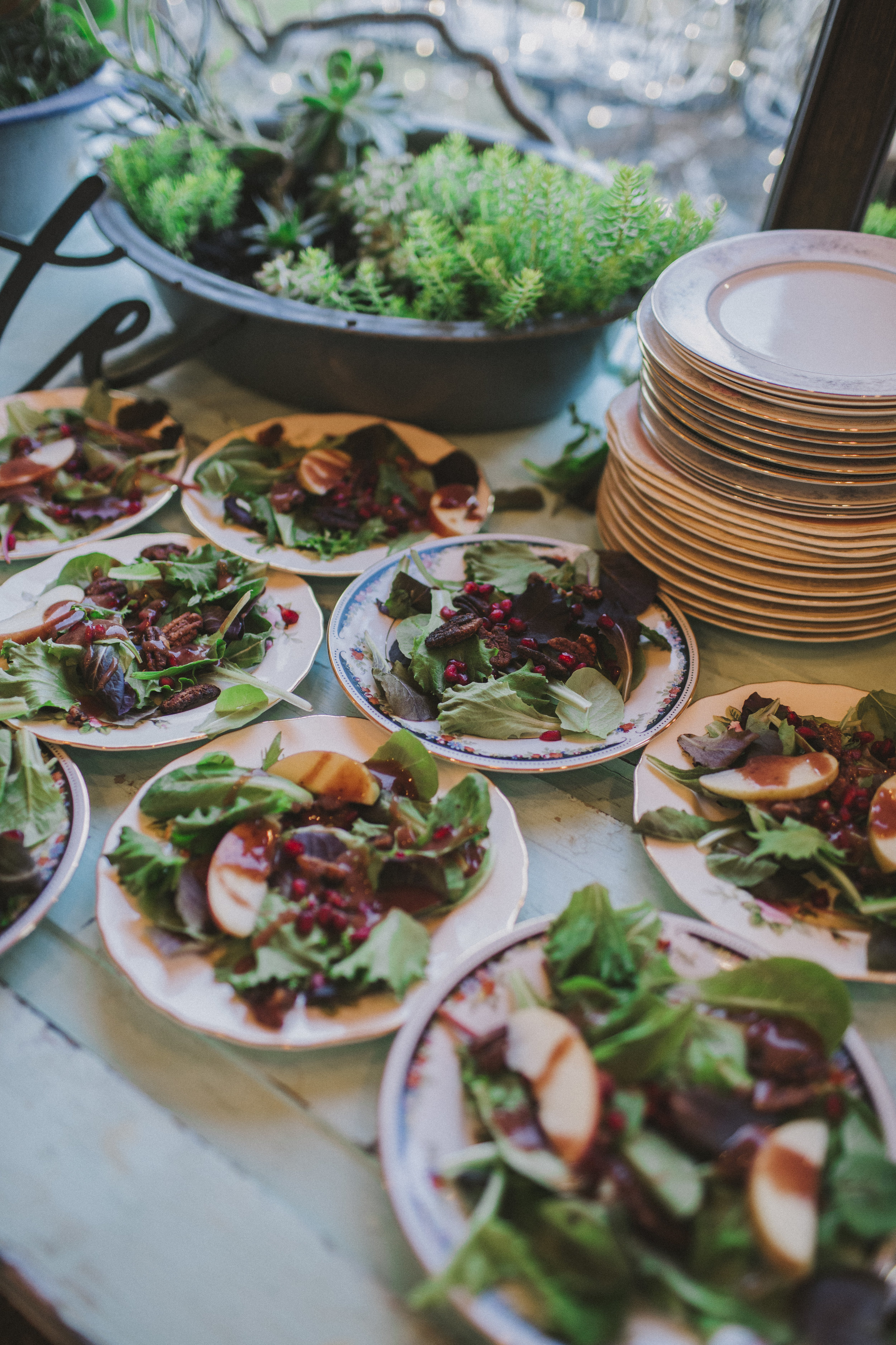 salads prepped by Hog Day Catering