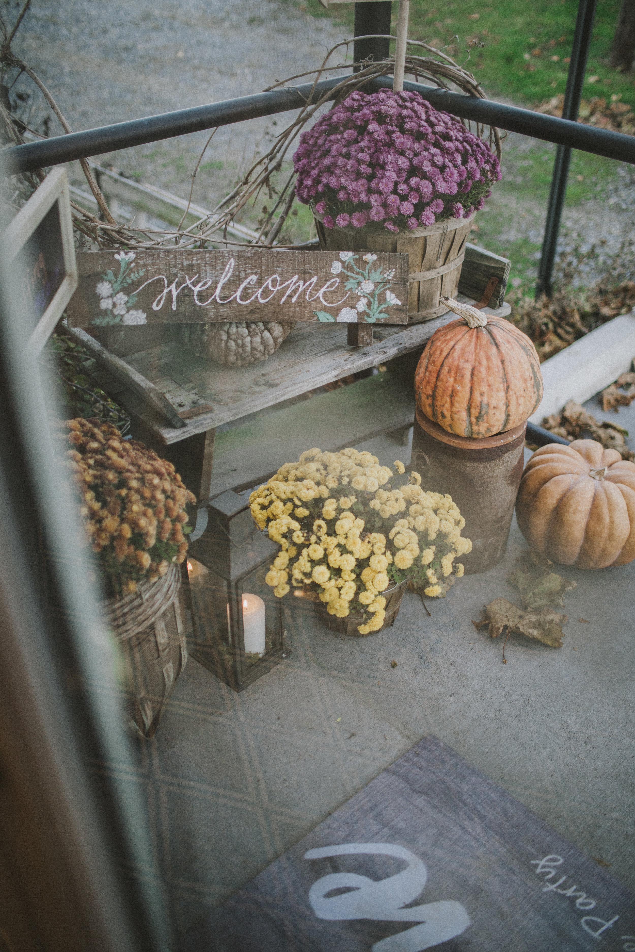 seasonal decor included