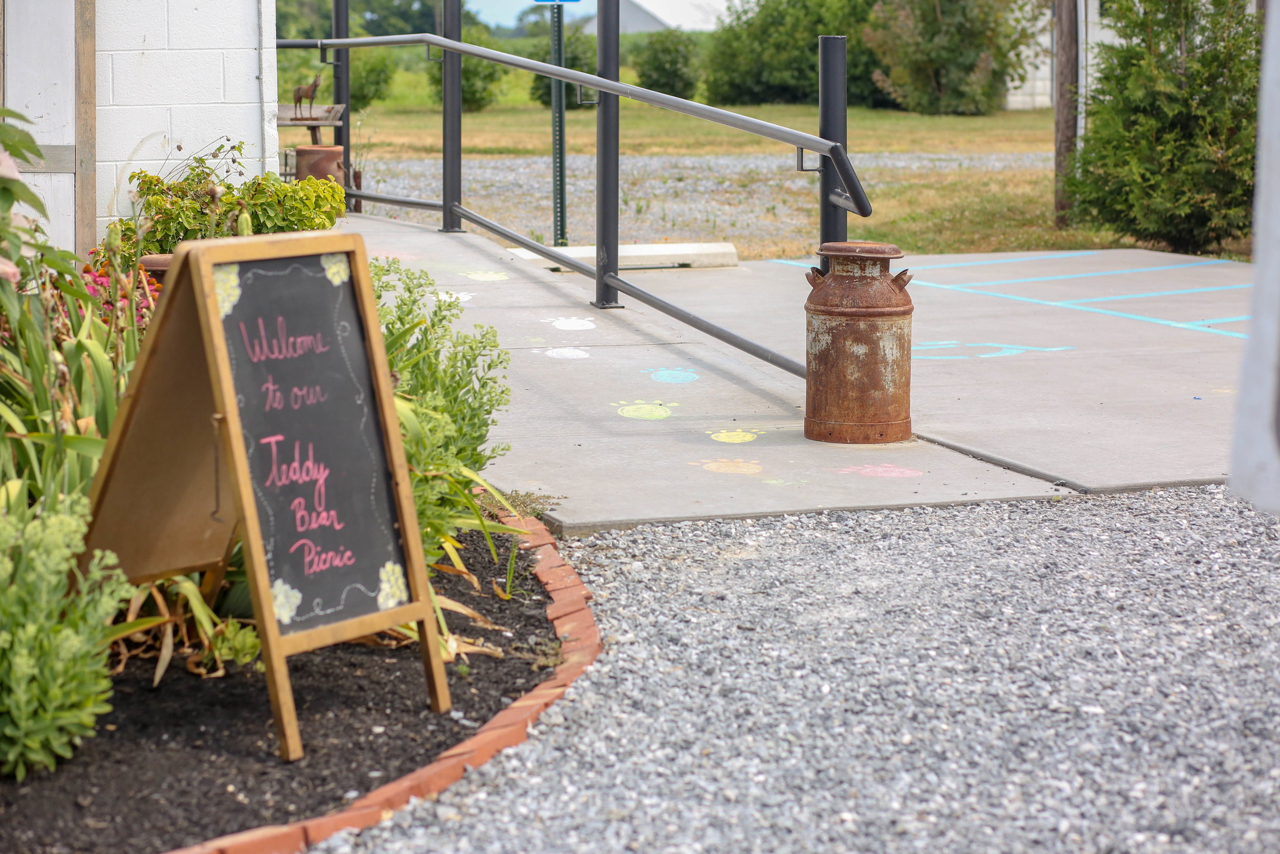 Welcome guests with a chalkboard