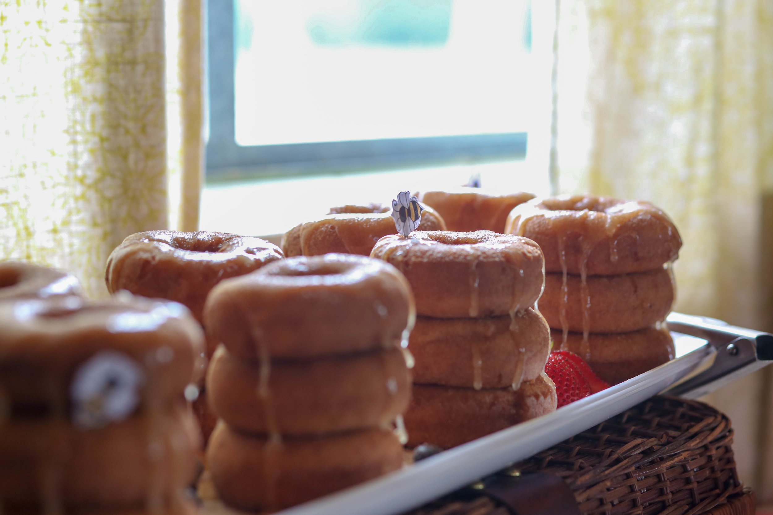 Honey donuts by Rode's Catering