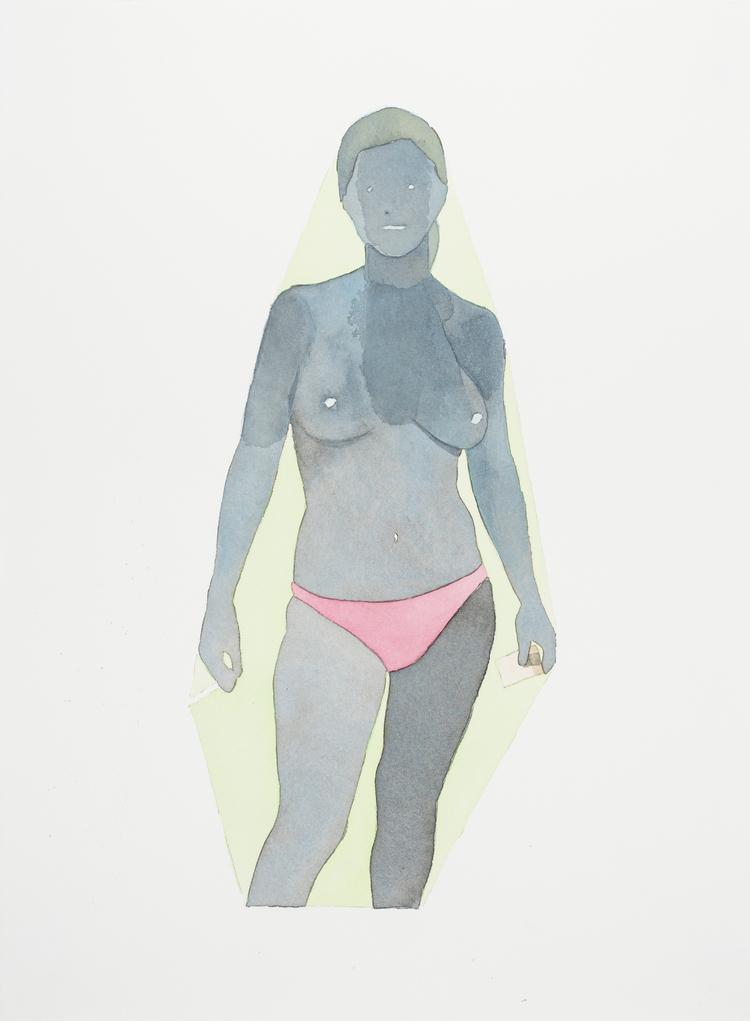 "dan_gluibizzi_Beach 2011  Watercolor and acrylic on paper 15"" x 11"".jpeg"