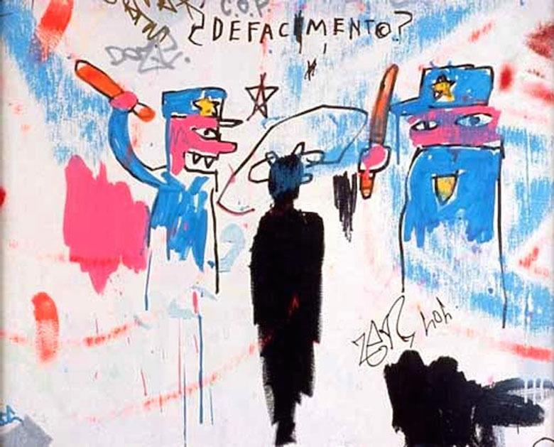 Jean Michel Basquiat - Defacement