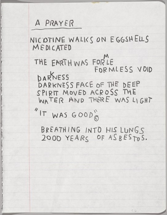 Jean Michel Basquiat - A Prayer