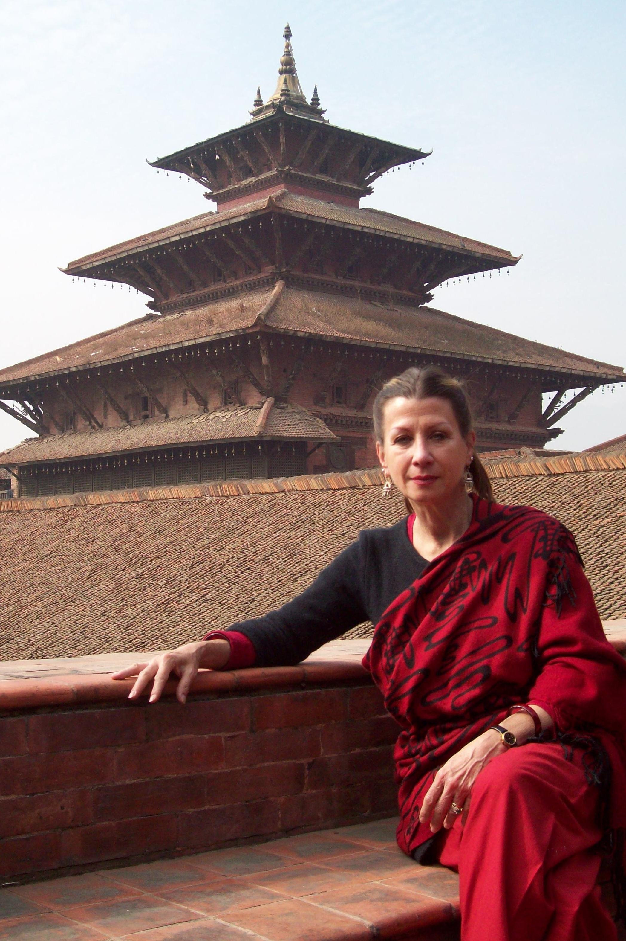 Drdak at the KCAC Patan Museum studio during her Fulbright in 2011-2012.