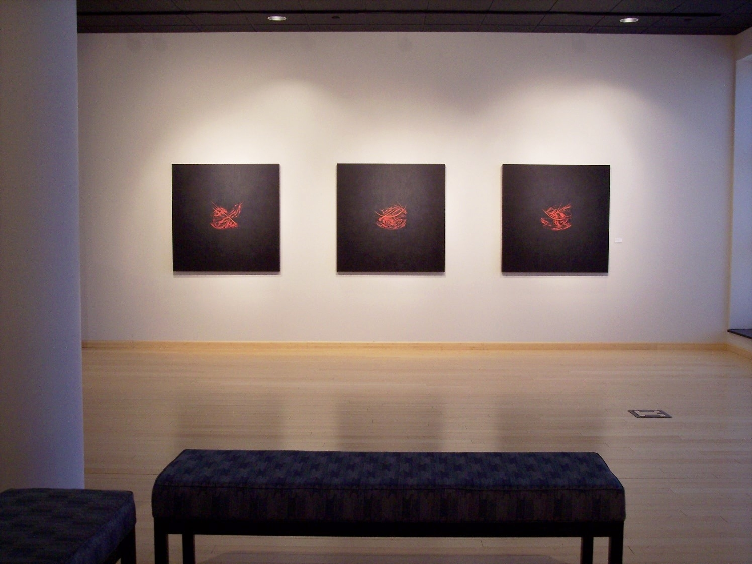 Akedah Triptych installation at Penn Gallery, PCT 2008.JPG