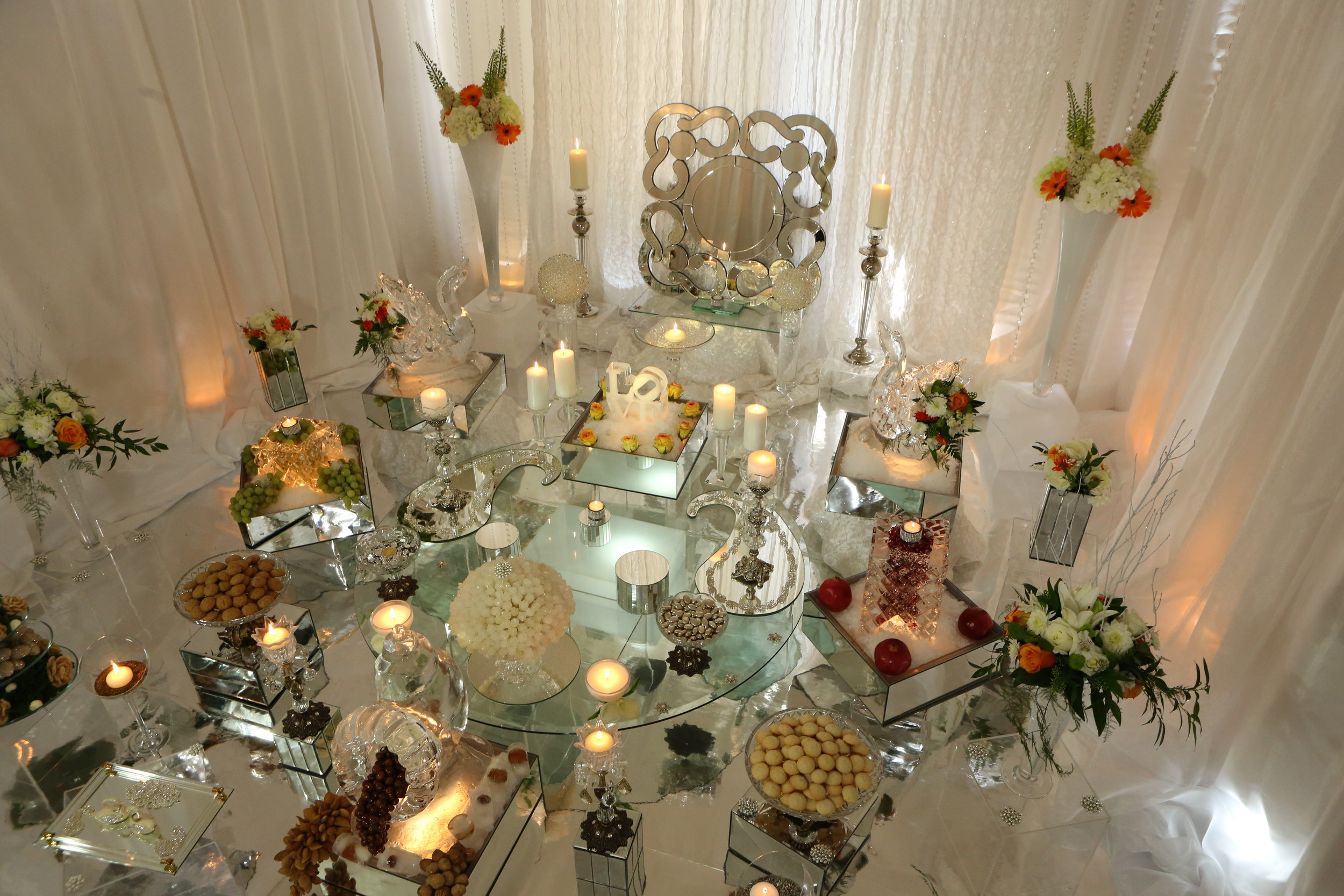 Ice Sculpture Sofreh set up in a private residence-Toronto